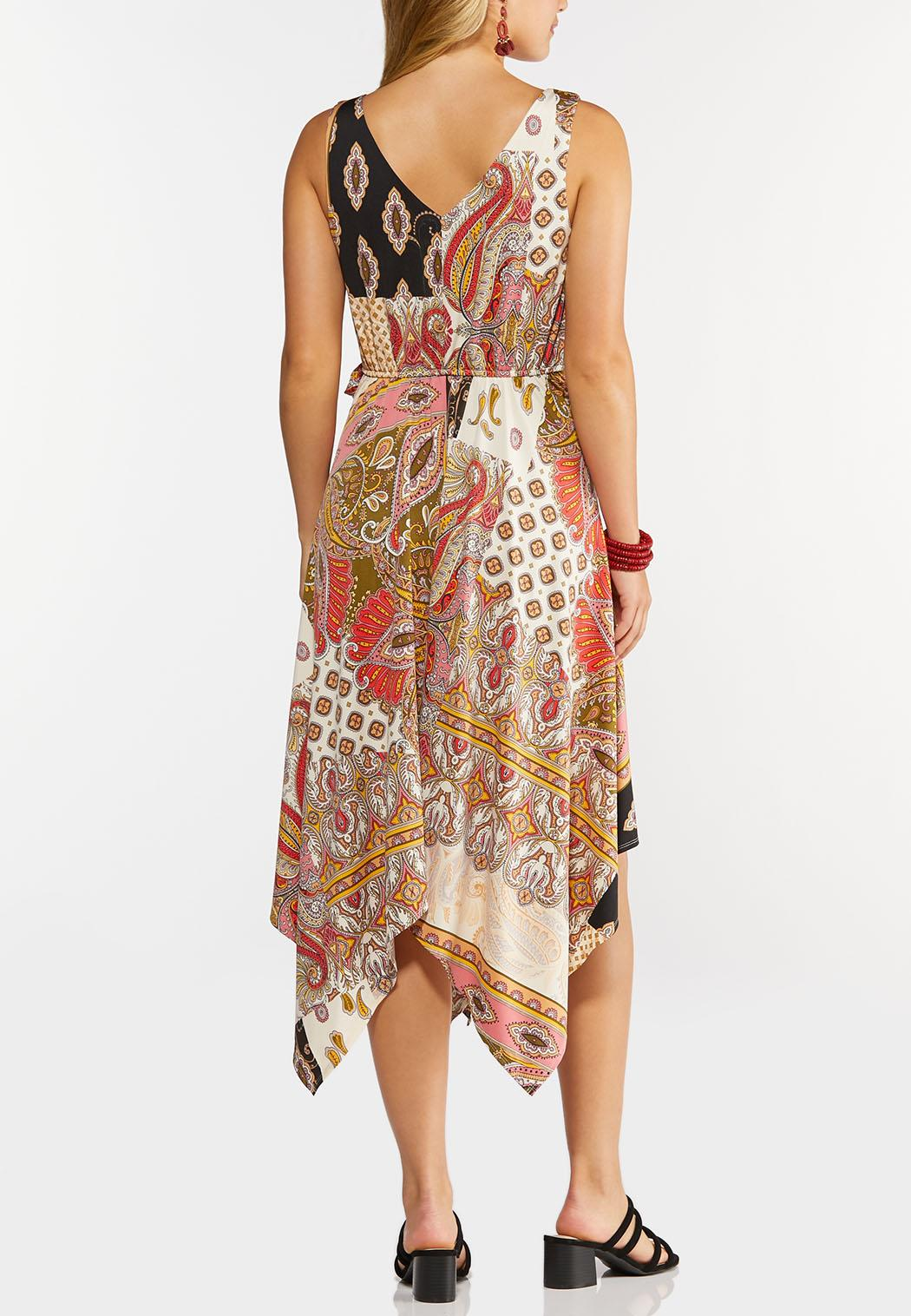 Plus Size Paisley Hanky Hem Dress (Item #44295953)
