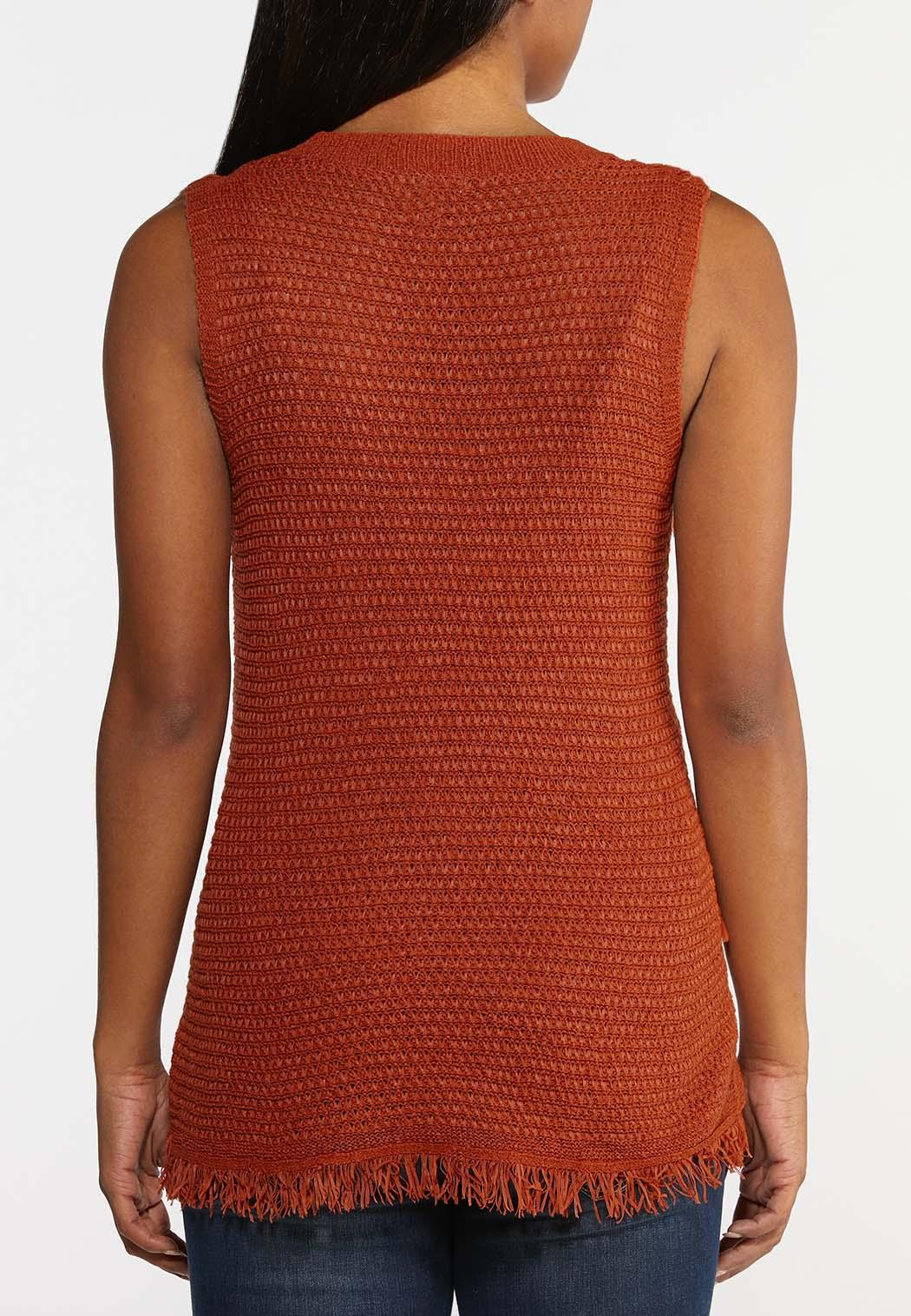 Fringe Sweater Tank (Item #44296384)