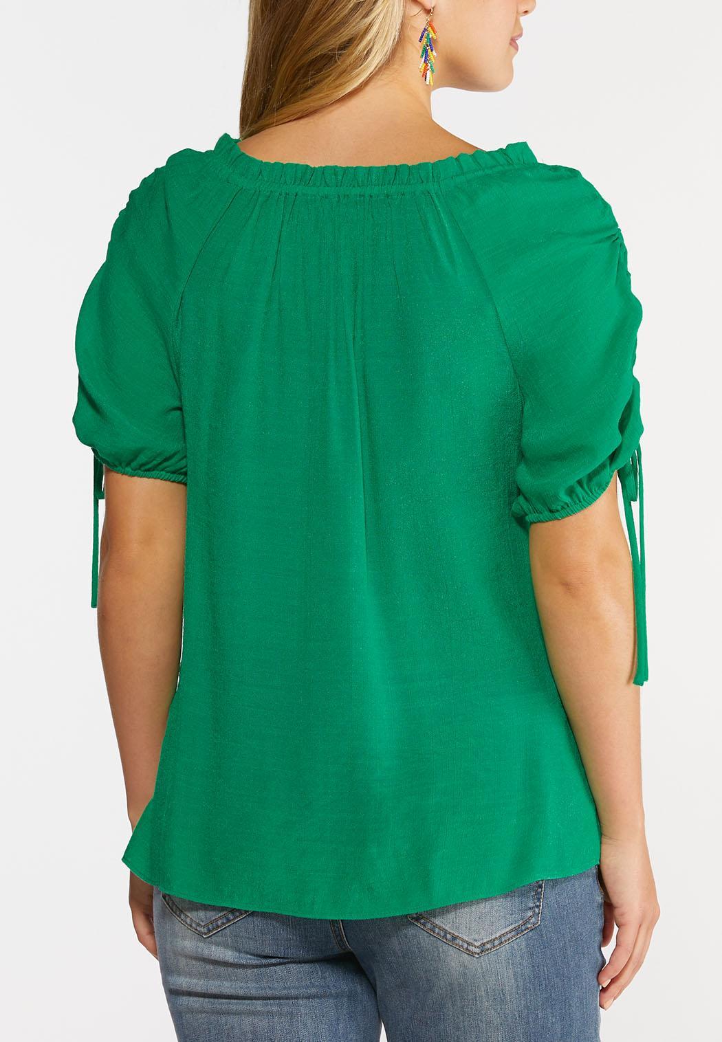 Gauzy Cinch Sleeve Top (Item #44296558)