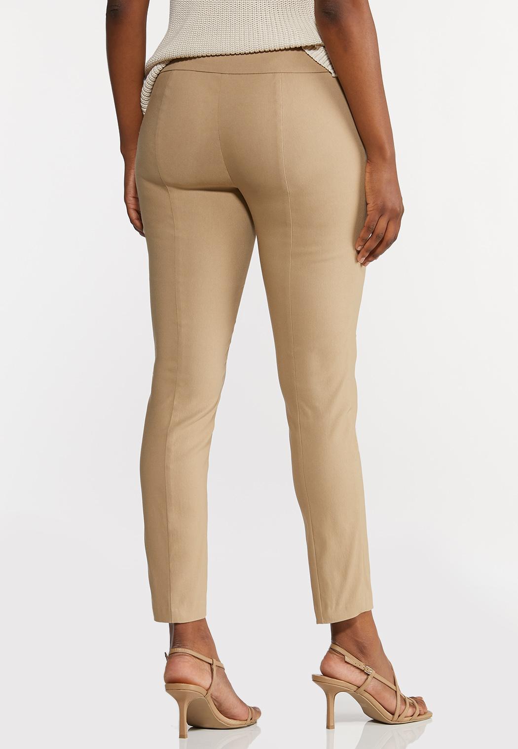 Petite Soft Woven Slim Pants (Item #44296559)