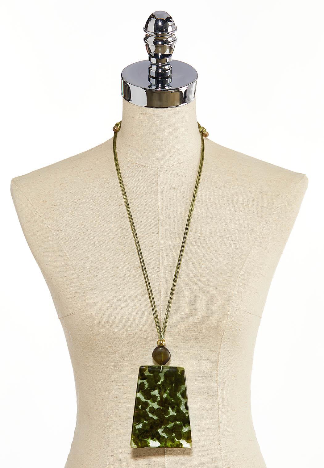 Olive Tort Pendant Necklace (Item #44297191)