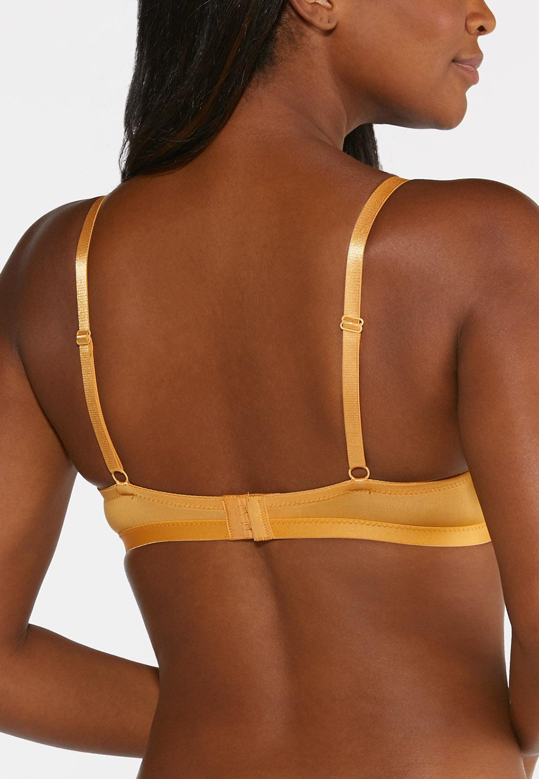 White and Gold Lace Bra Set  (Item #44298386)