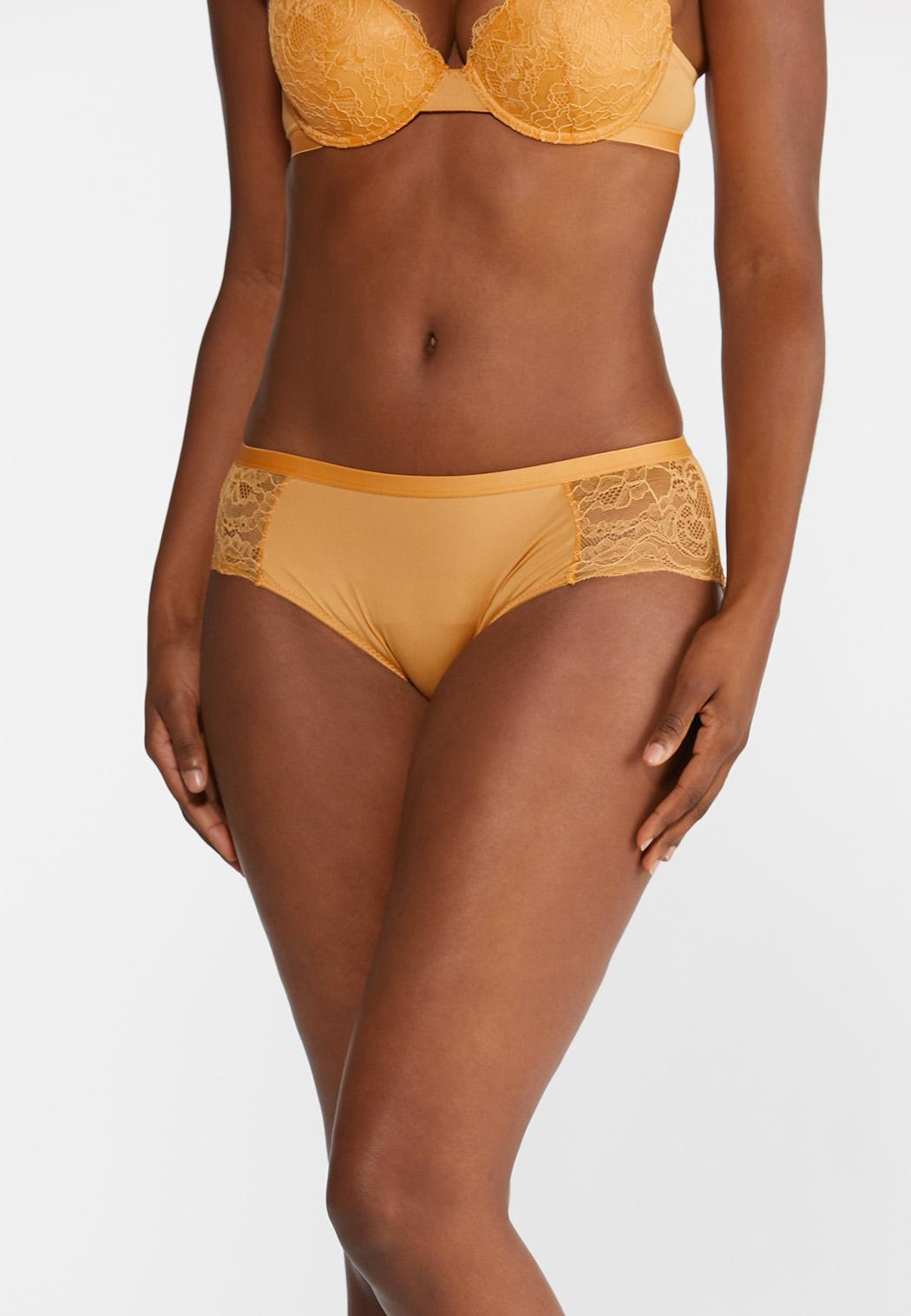 Plus Size White and Gold Panty Set  (Item #44298679)