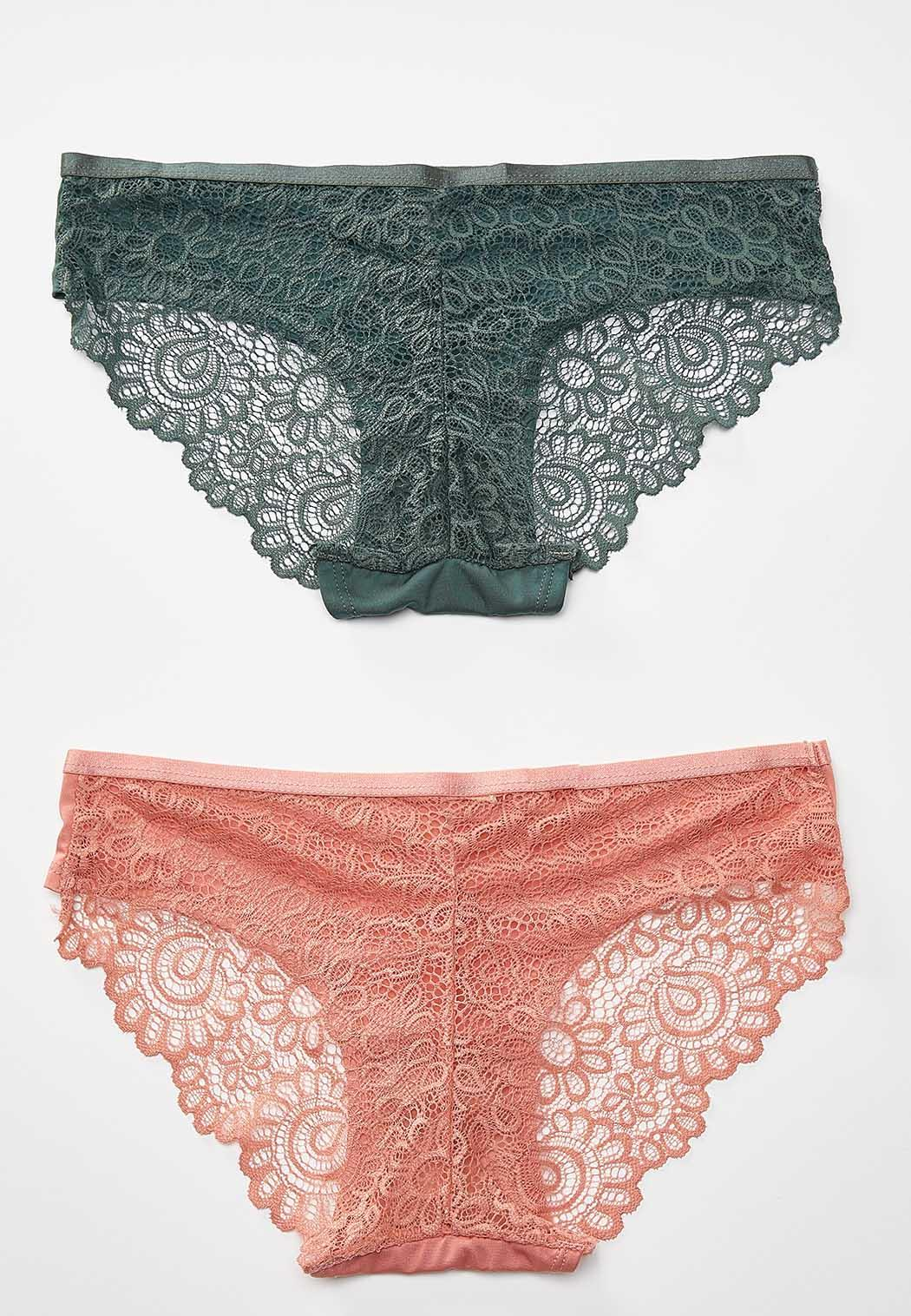 Plus Size Lace Back Panty Set (Item #44298782)