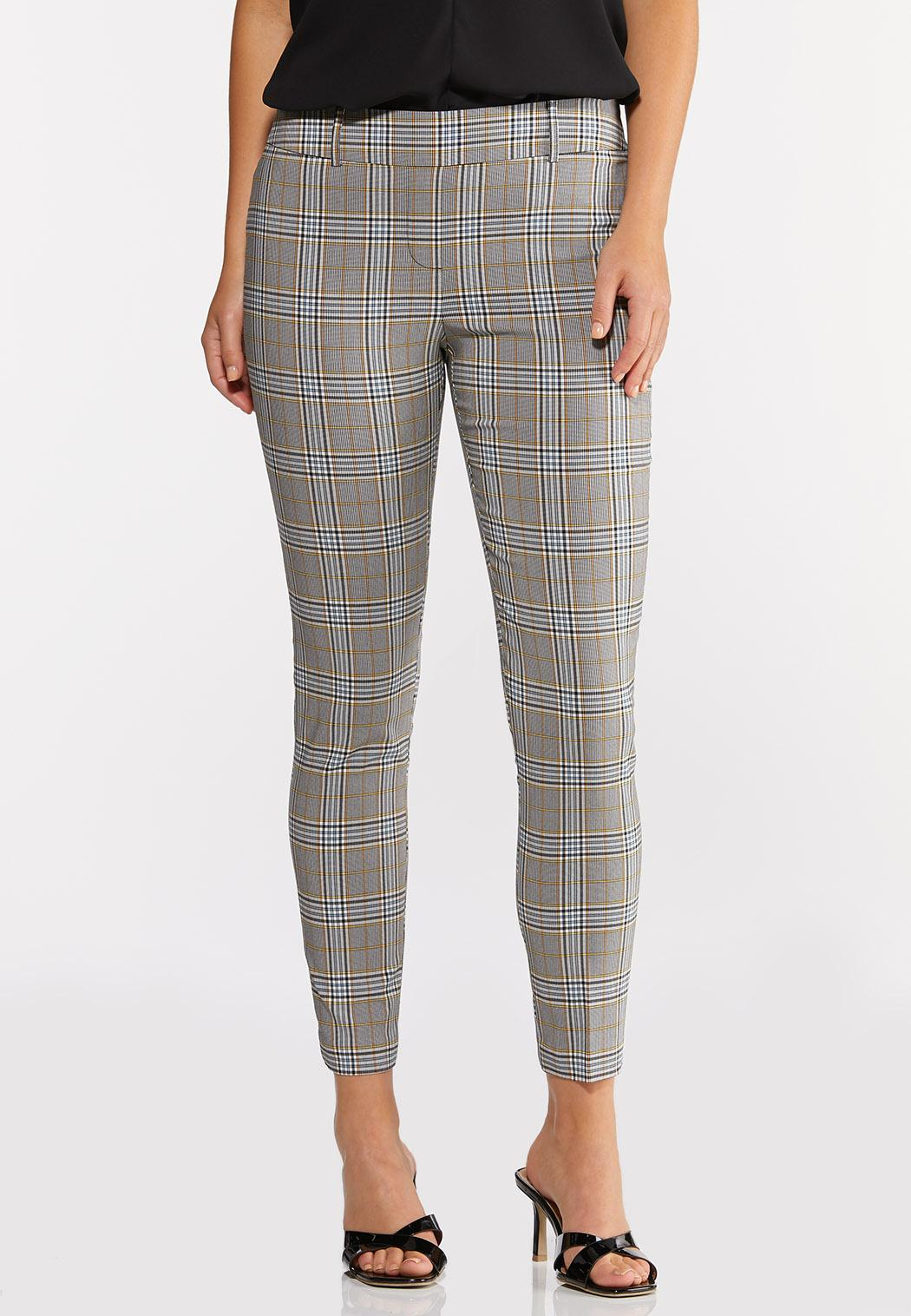 Blue Plaid Ankle Pants (Item #44299813)