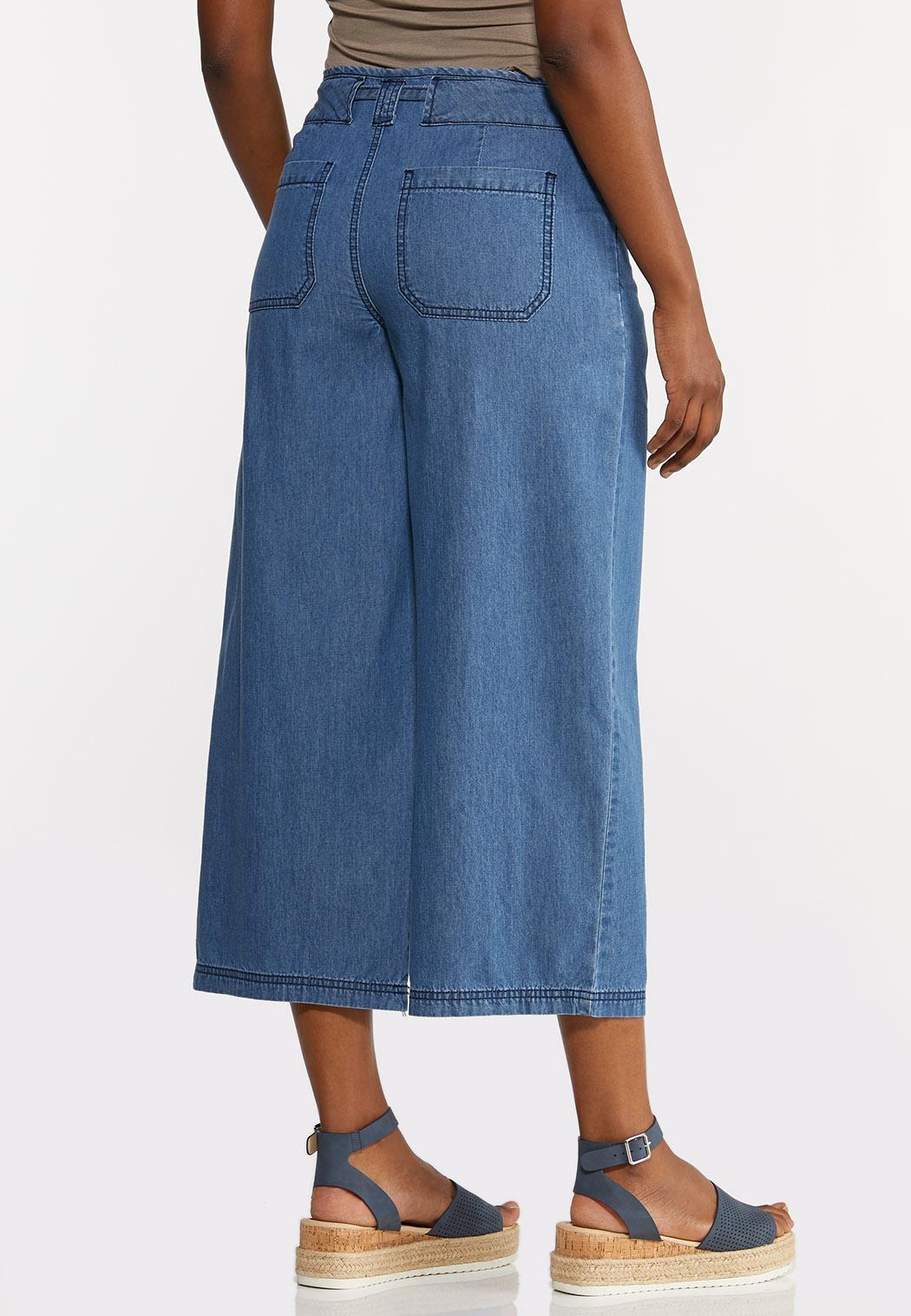 Cropped Denim Pants (Item #44303905)