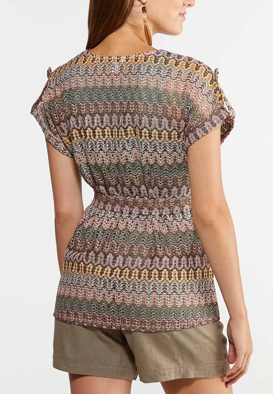 Tie Front Knit Top (Item #44306536)