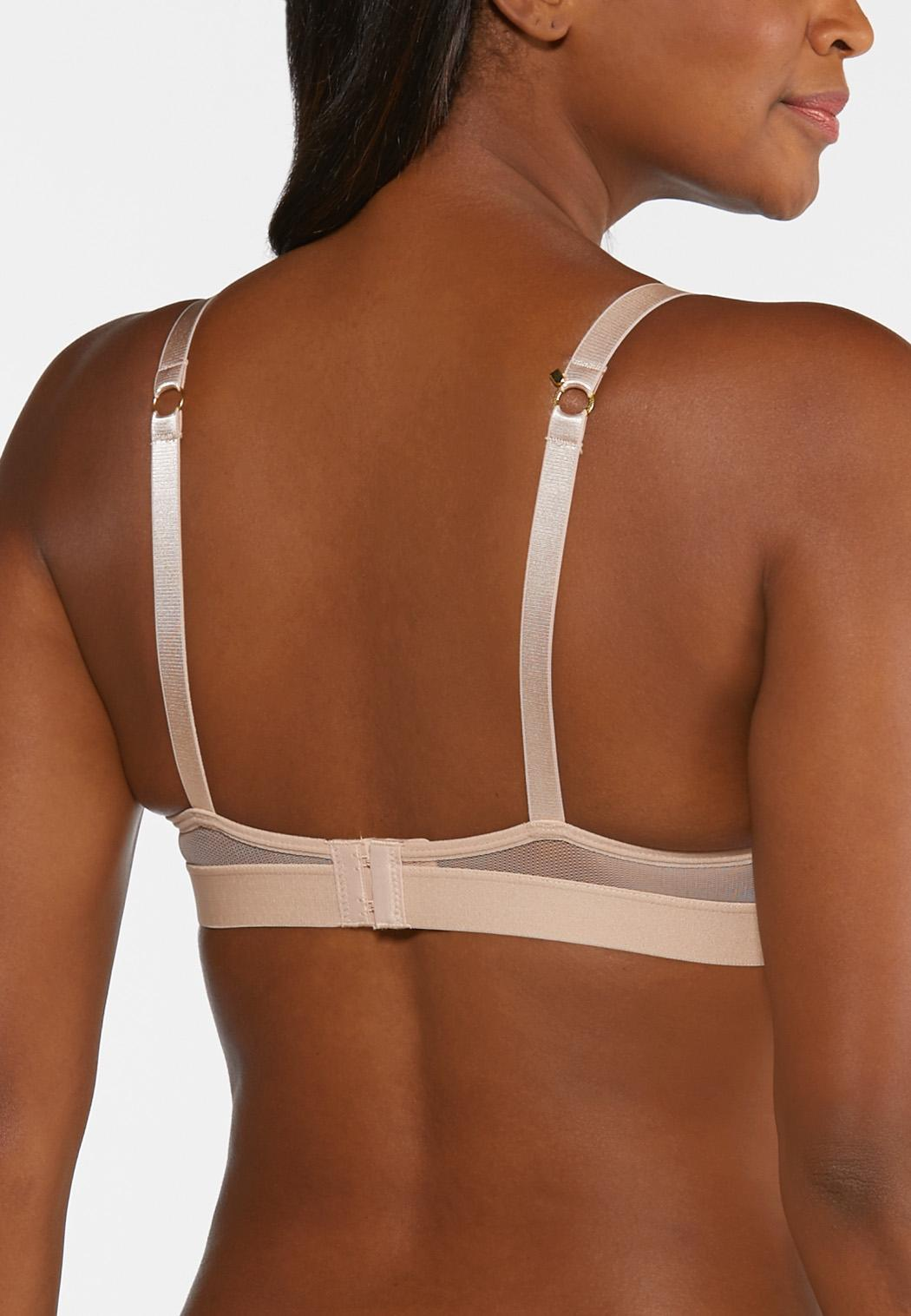Plus Size Mesh Trim Wire-Free Bra (Item #44308659)