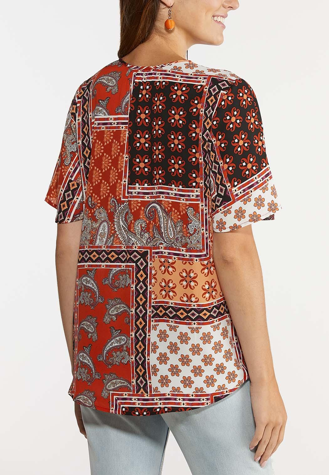 Printed Flutter Sleeve Top (Item #44309195)