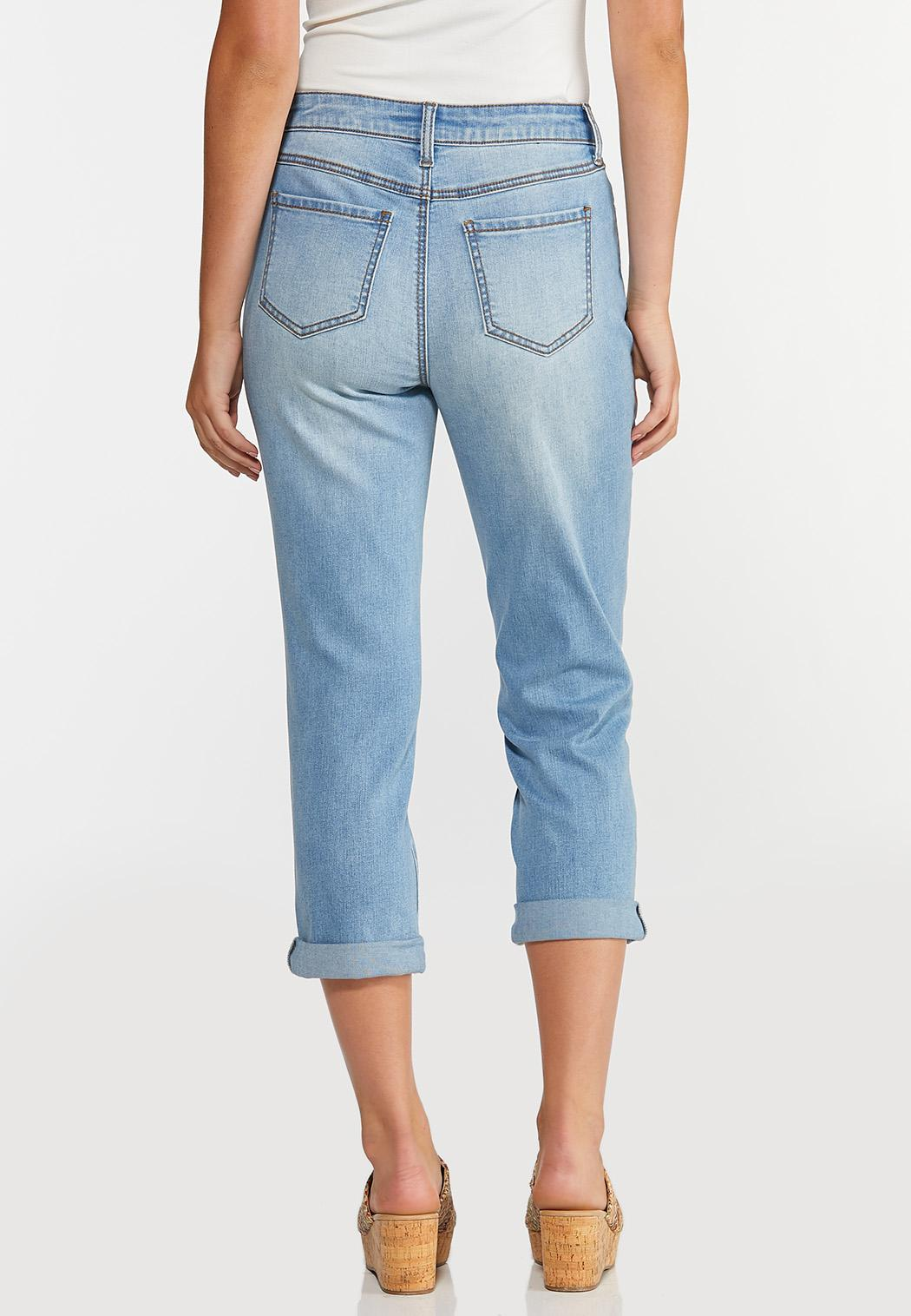 Cropped Lightwash Girlfriend Jeans (Item #44309293)