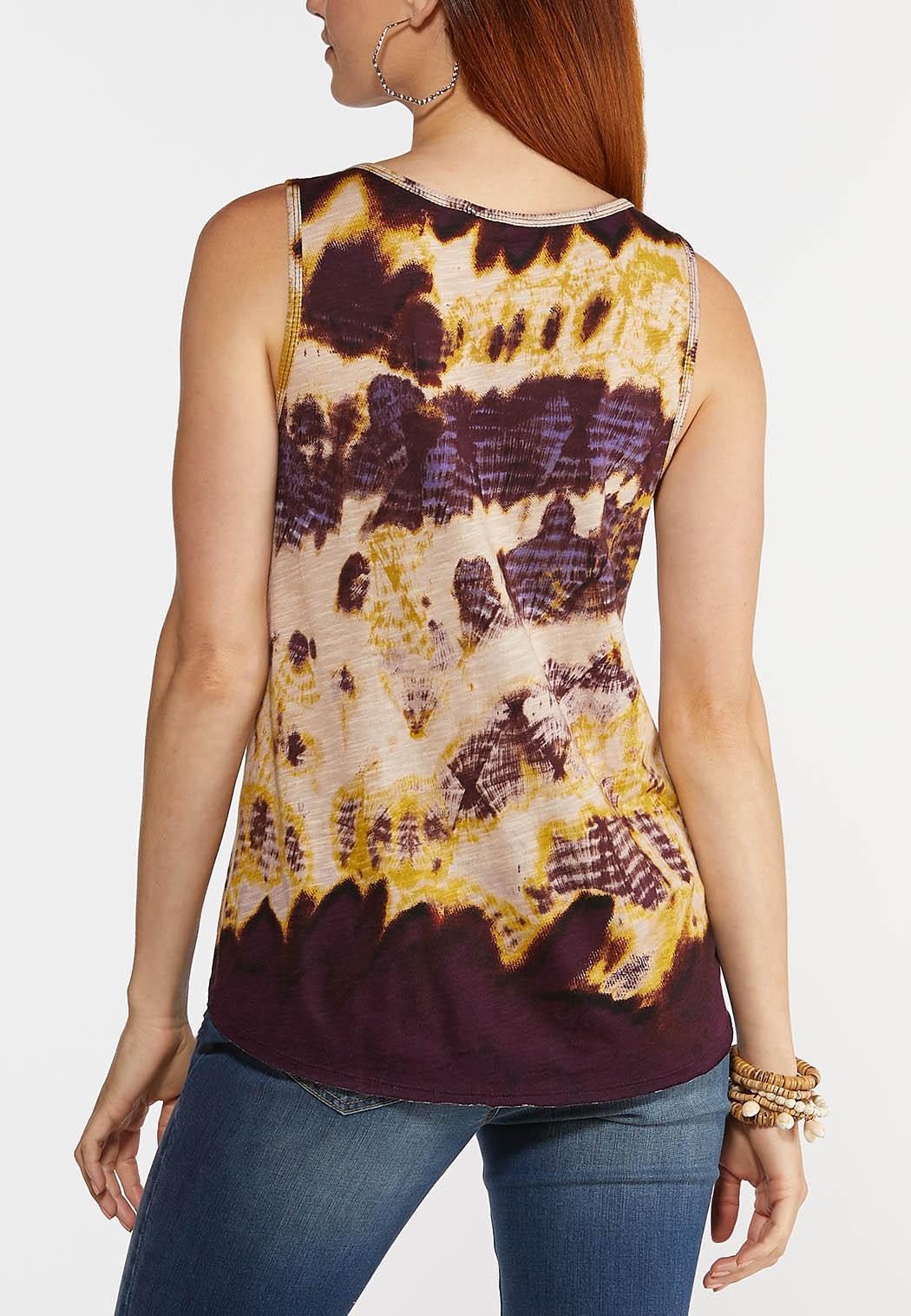 Plus Size Artsy Tie Dye Tank (Item #44311783)