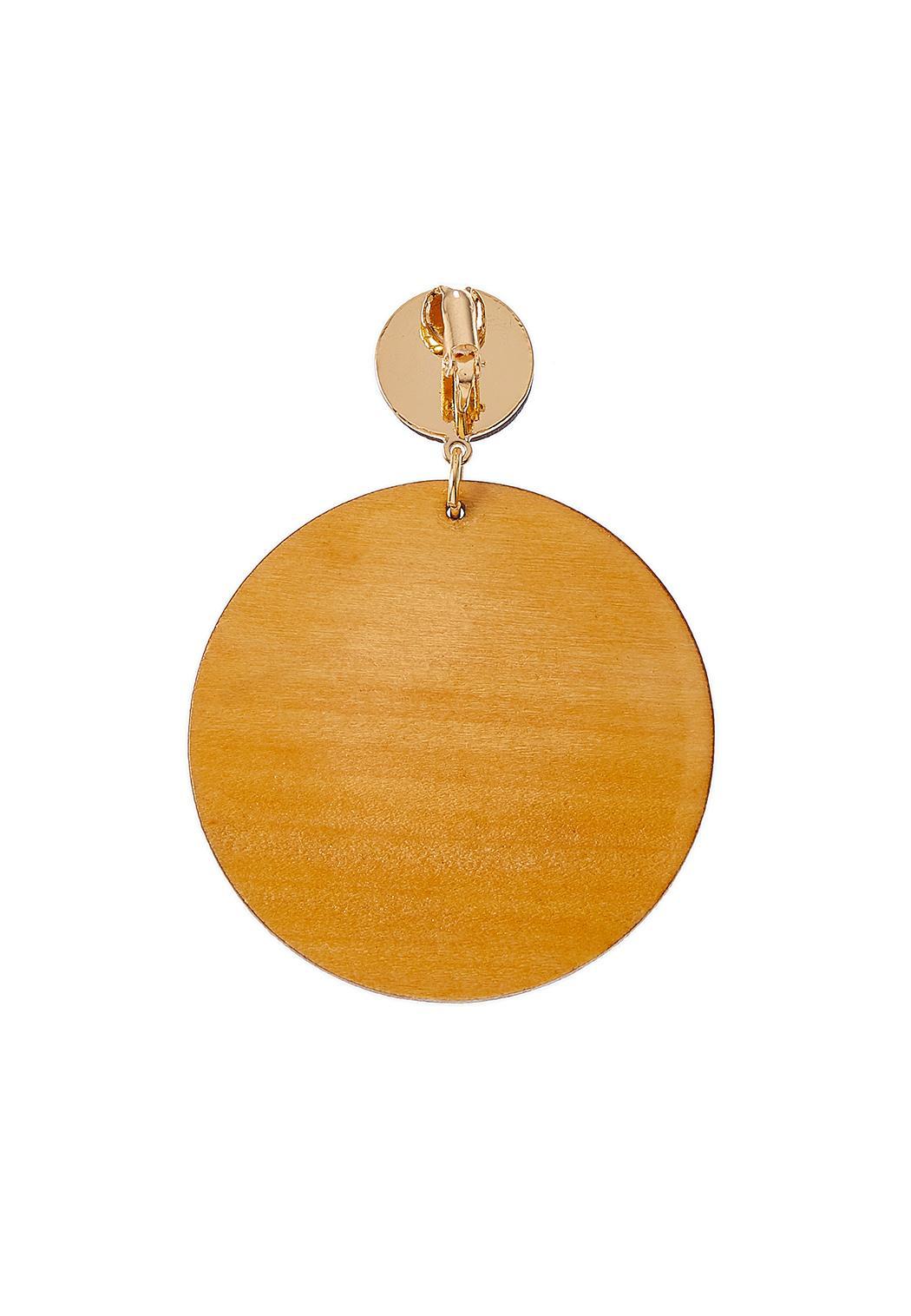 Stripe Wood Clip-On Earrings (Item #44312134)