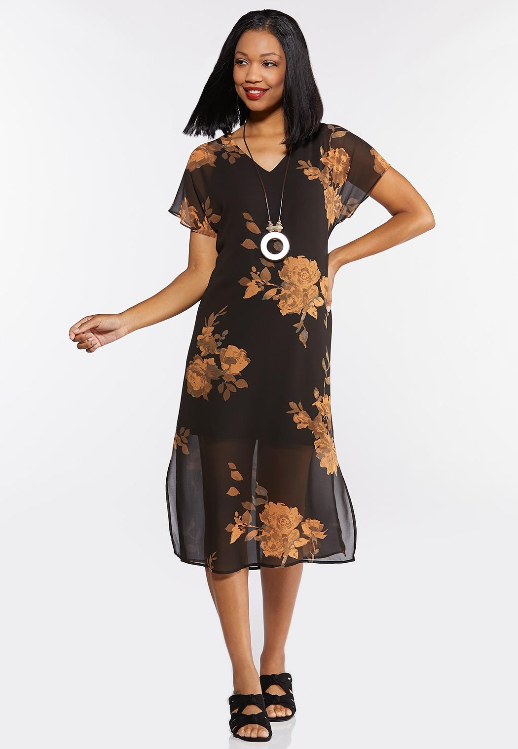 Rose Garden Chiffon Dress (Item #44312829)
