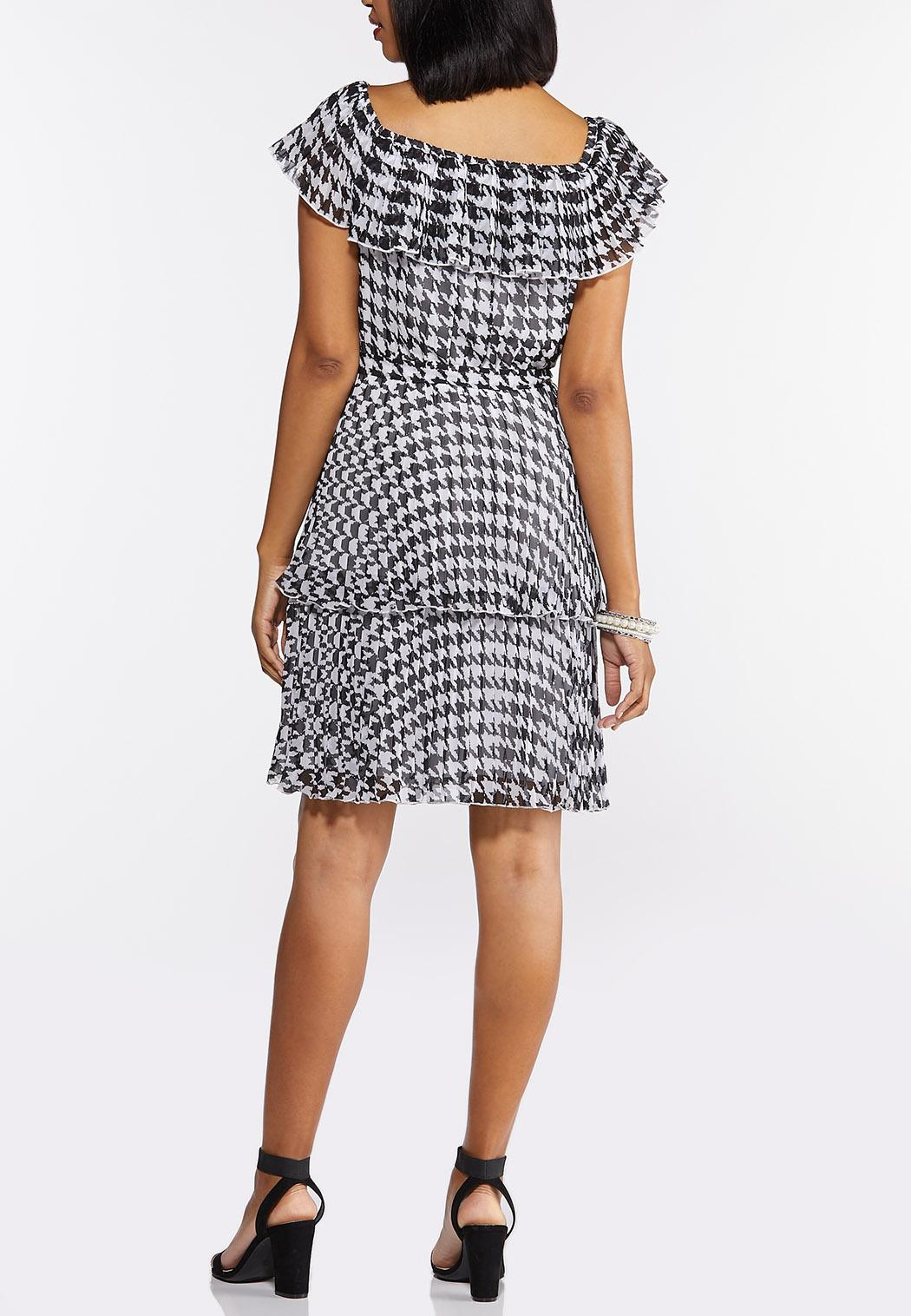 Plus Size Tiered Houndstooth Dress (Item #44312931)