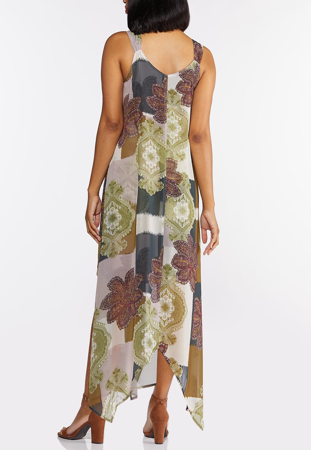 Chiffon Hanky Hem Dress (Item #44313062)