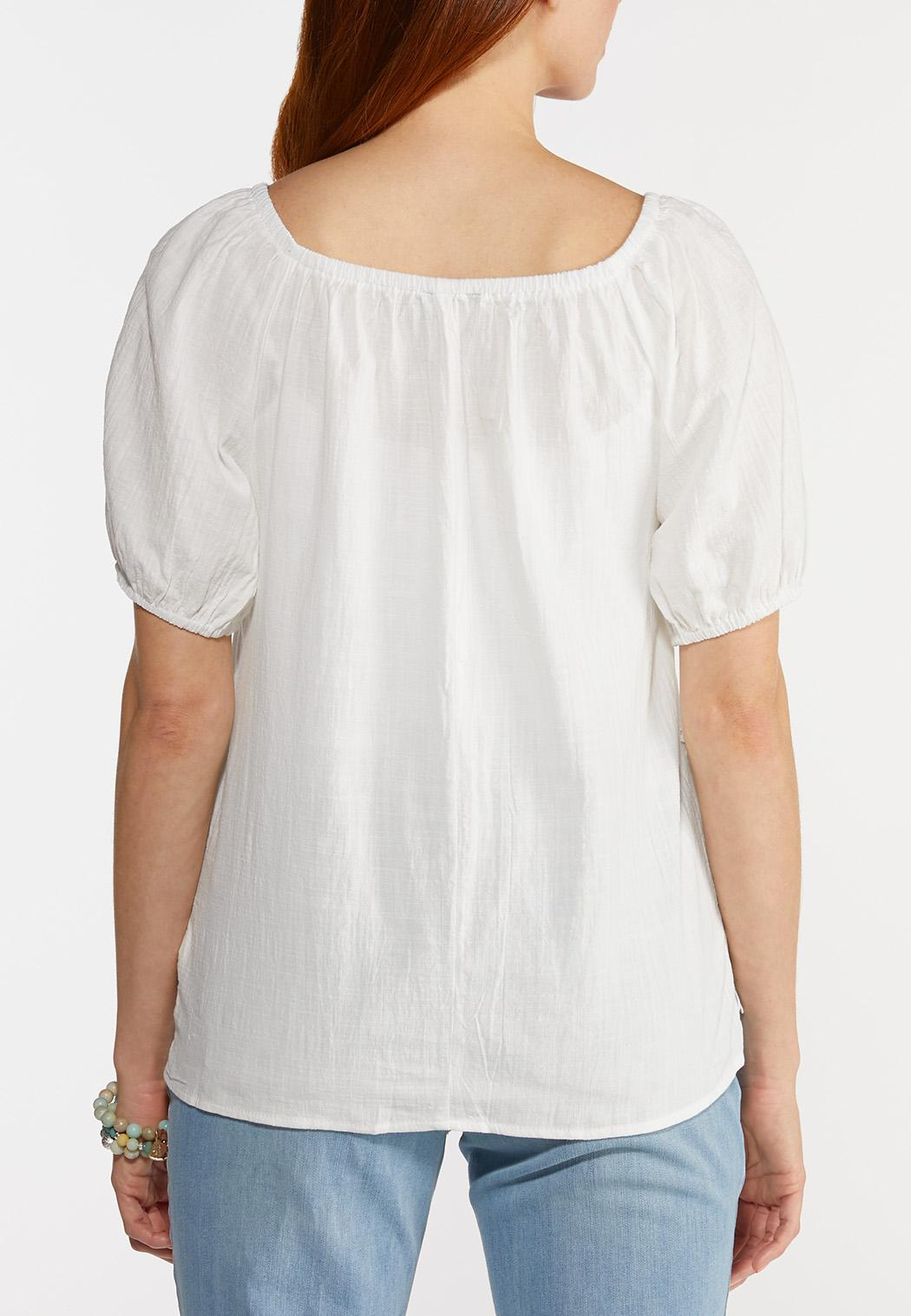 Scalloped Lace Hem Top (Item #44313090)