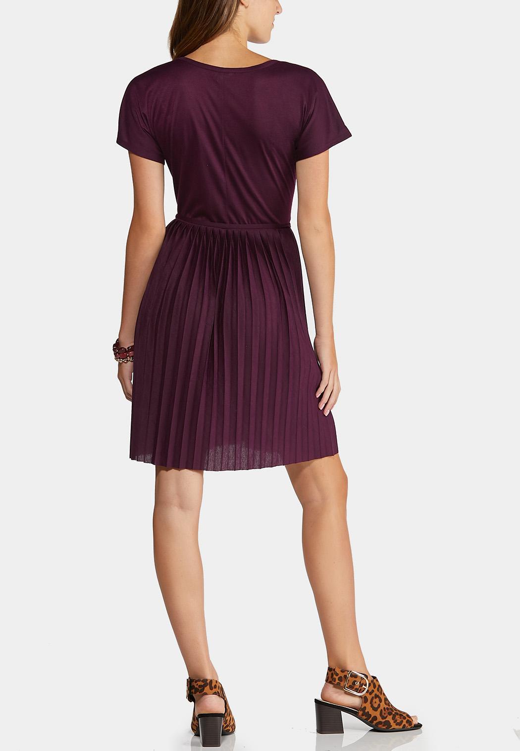 Pleated Plum Dress (Item #44313322)