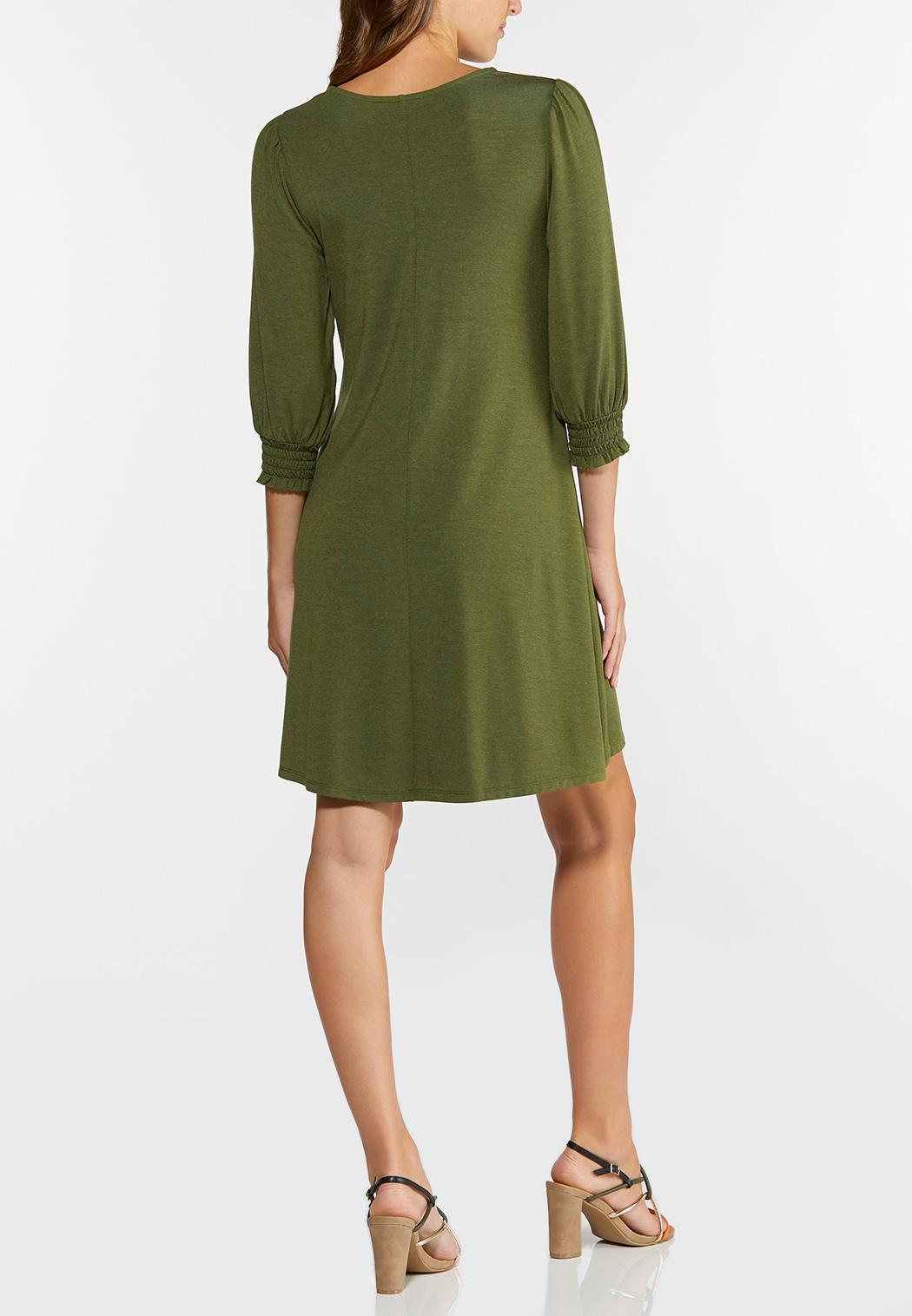 Plus Size Smocked Puff Sleeve Dress (Item #44313375)
