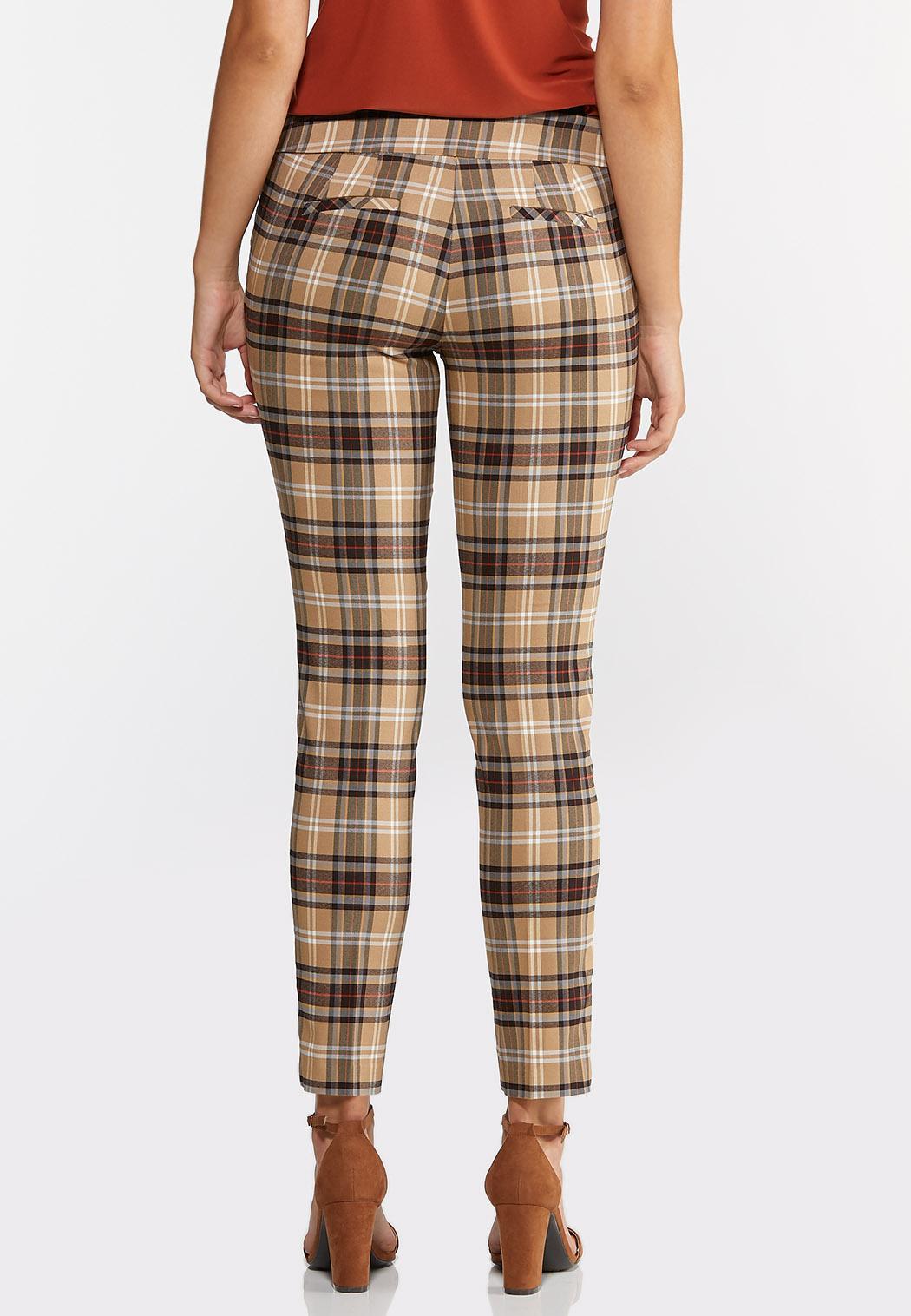Khaki Plaid Bengaline Pants (Item #44313568)