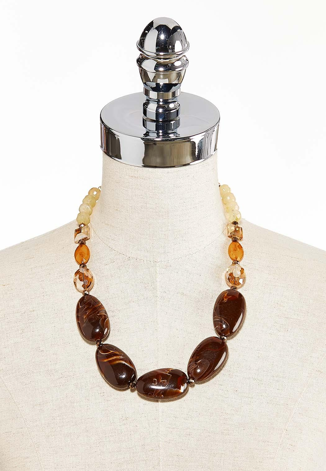 Tortoise Acrylic Bead Necklace (Item #44313609)