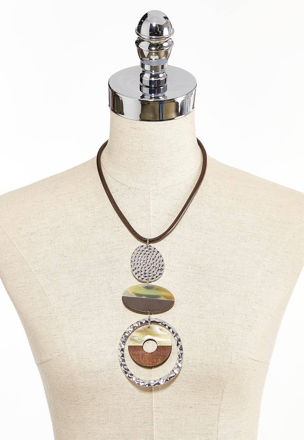 Mixed Material Statement Necklace (Item #44313613)