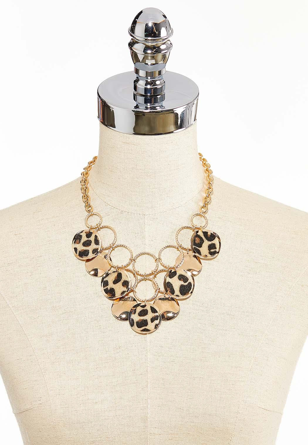 Textured Leopard Statement Necklace (Item #44313629)