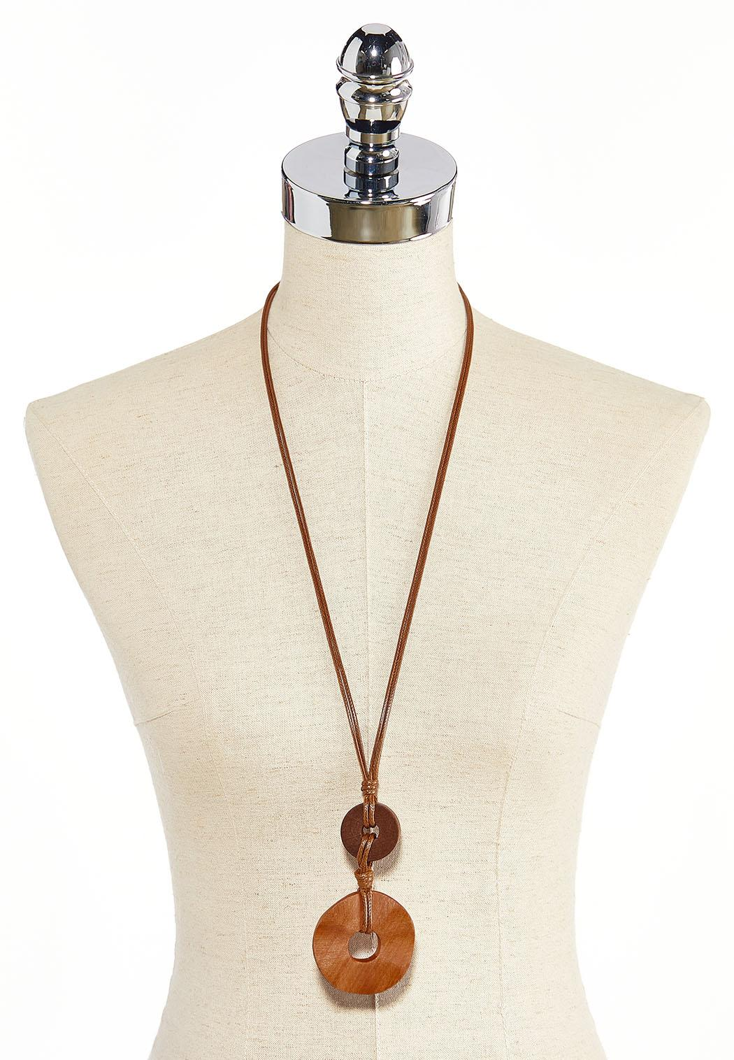 Wood Ring Cord Necklace (Item #44313633)