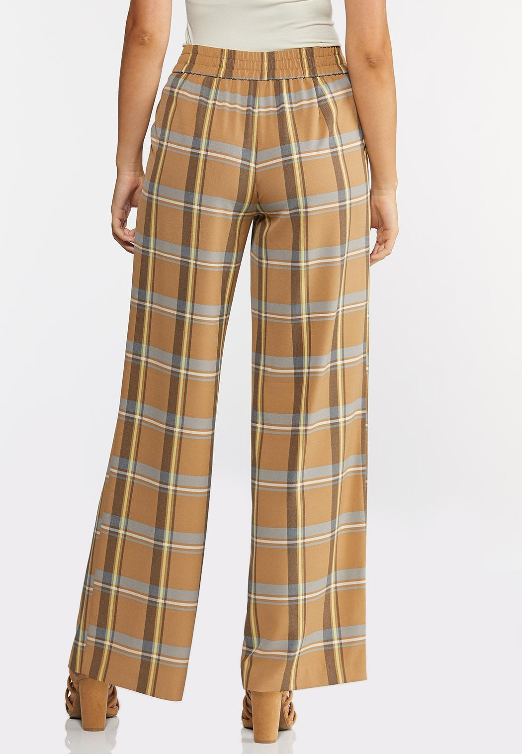 Plaid Wide Leg Pants (Item #44313945)