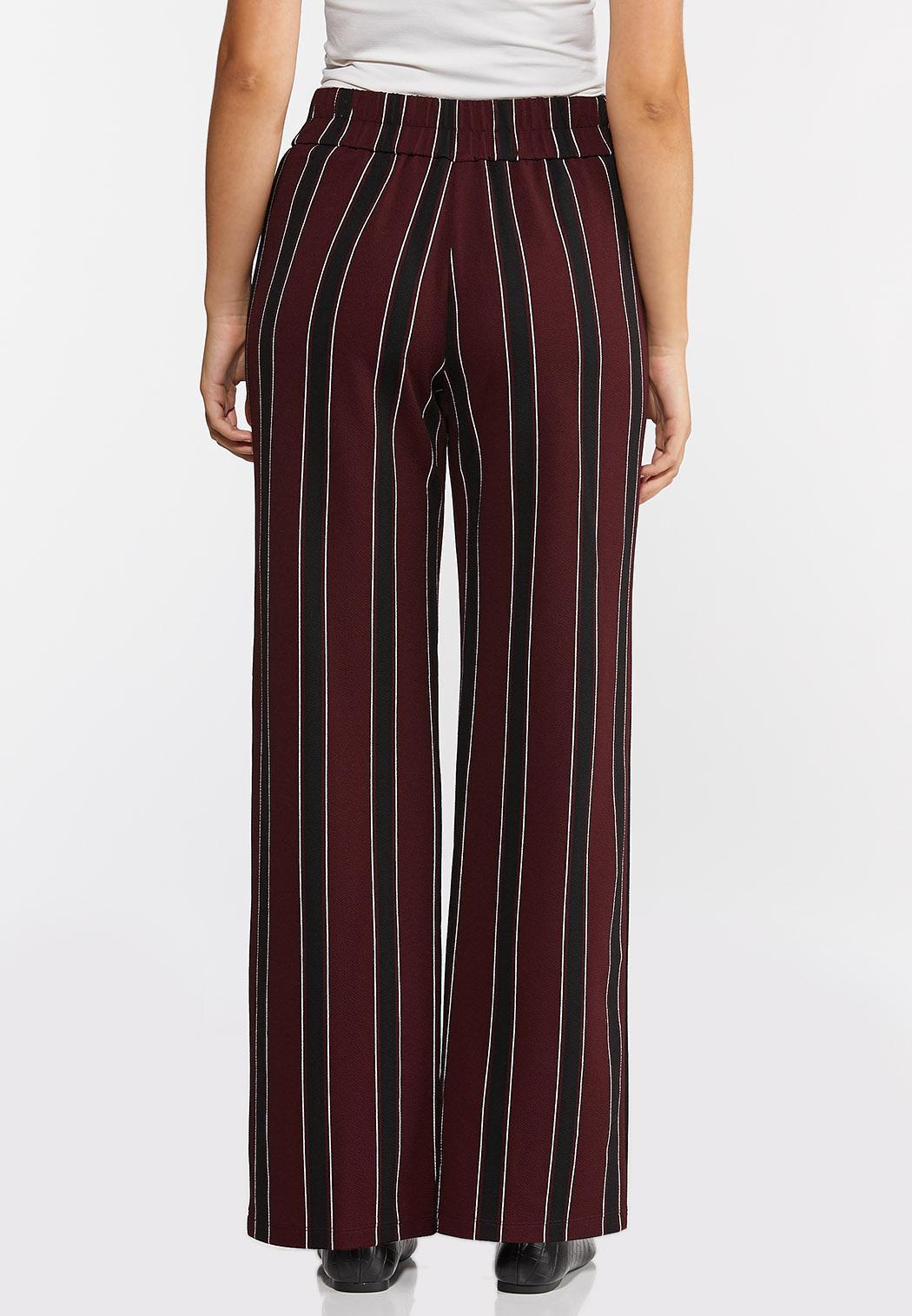 Petite Striped Wide Leg Pants (Item #44314379)