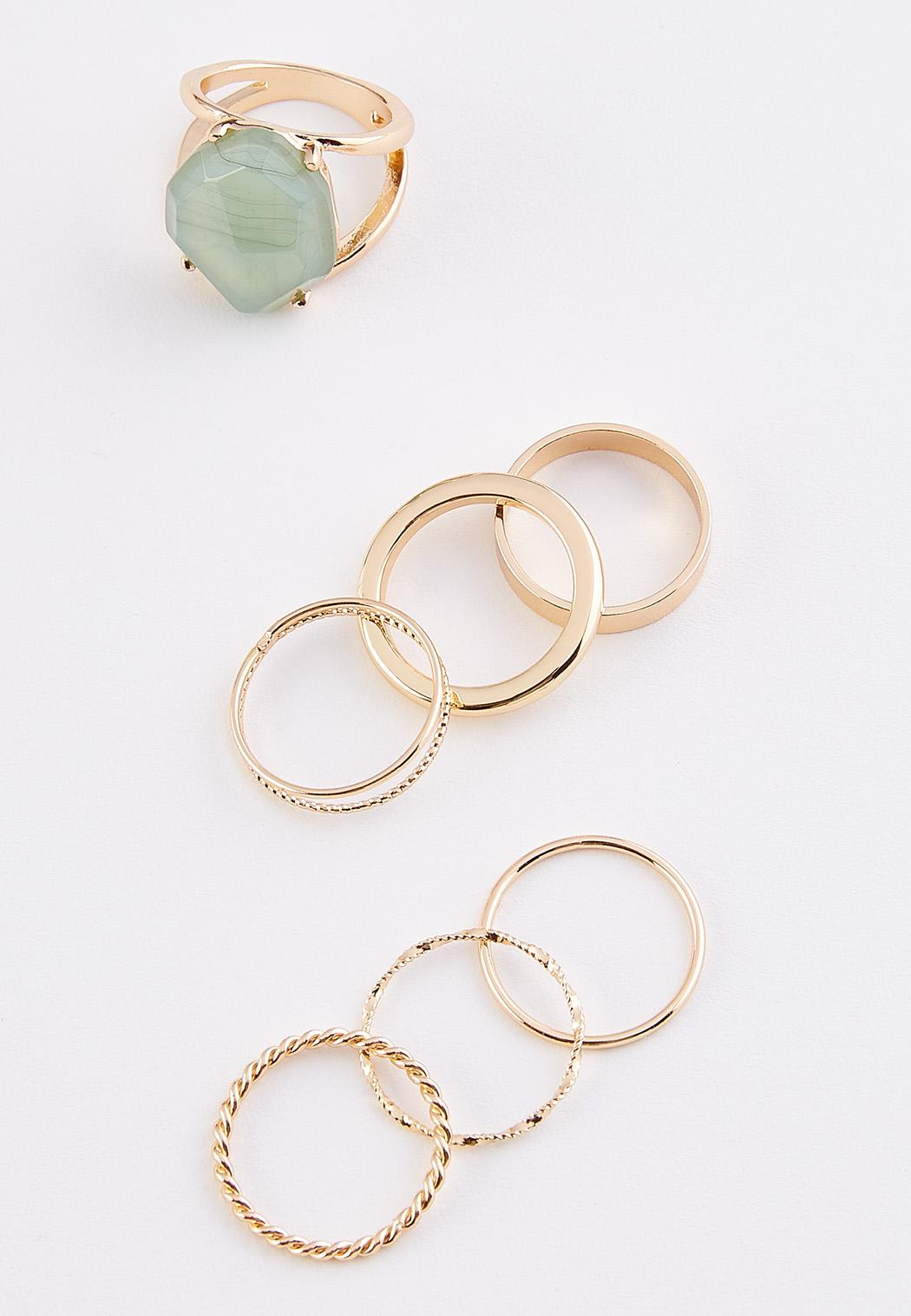 Stone And Band Ring Set (Item #44314462)