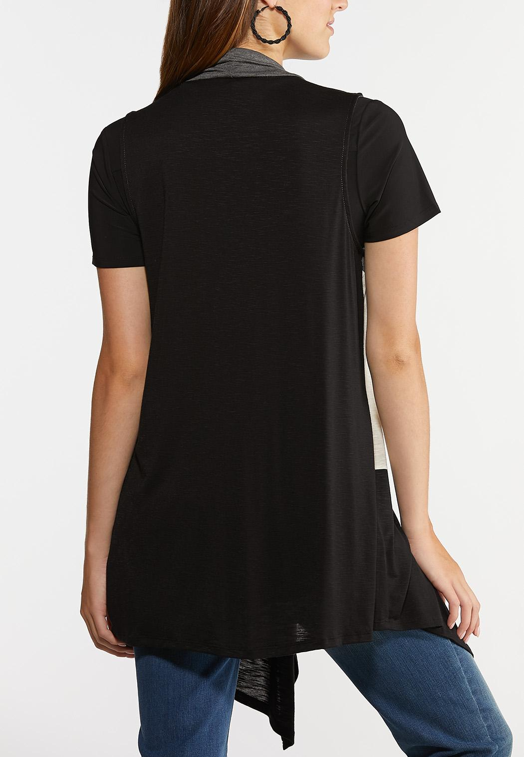 Draped Colorblock Vest (Item #44314615)