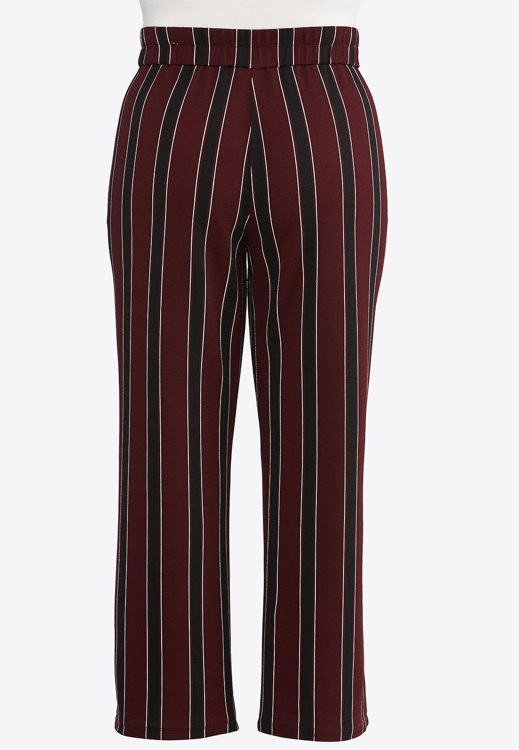 Plus Size Striped Wide Leg Pants (Item #44314729)