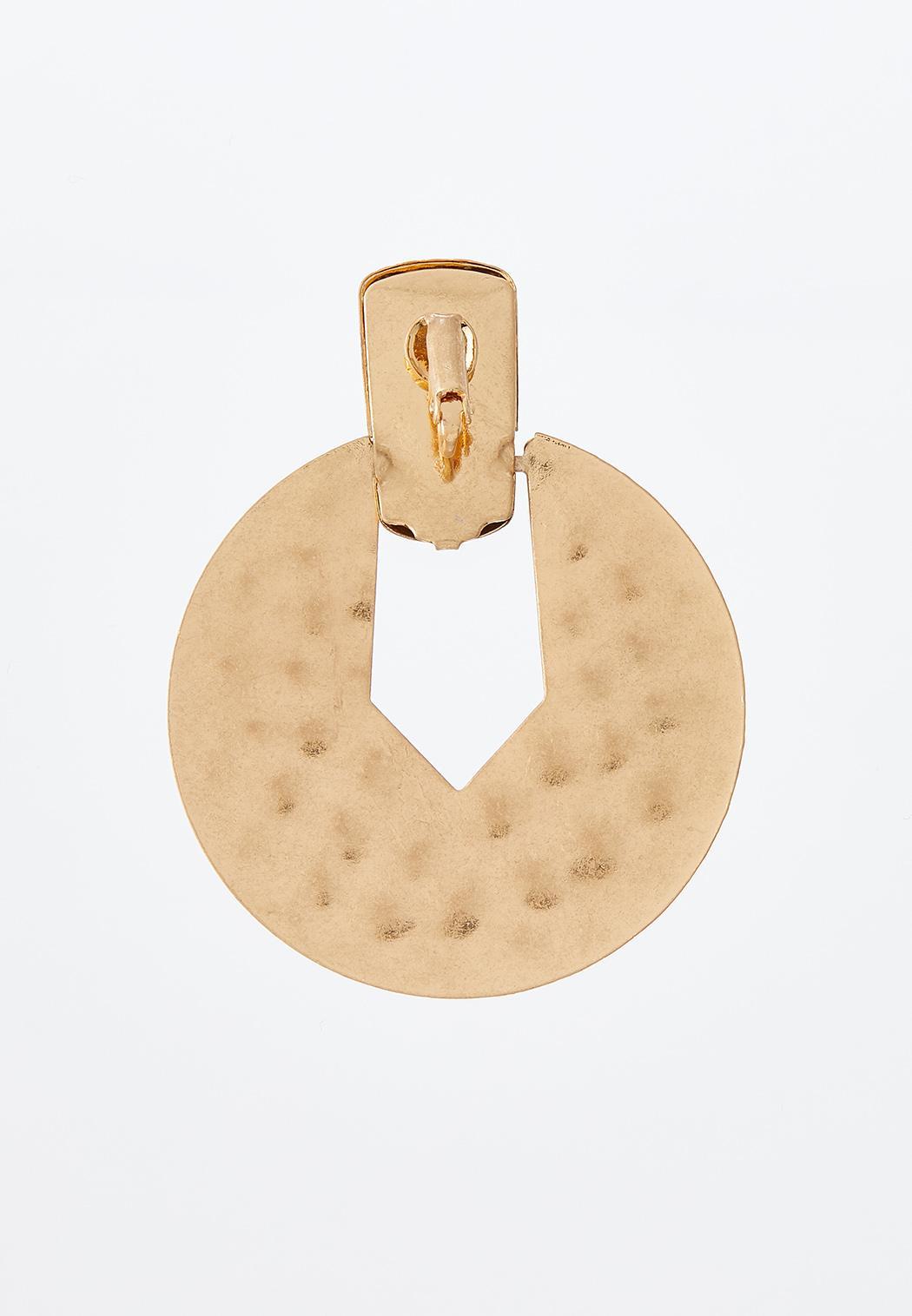 Brushed Metal Clip-On Earrings (Item #44314731)