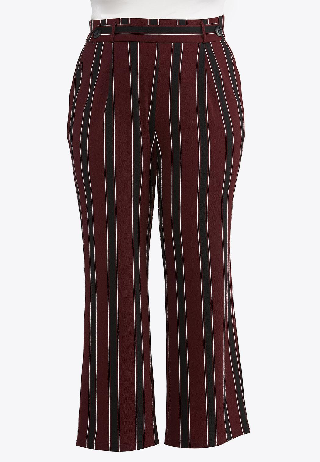 Plus Petite Striped Wide Leg Pants (Item #44314742)