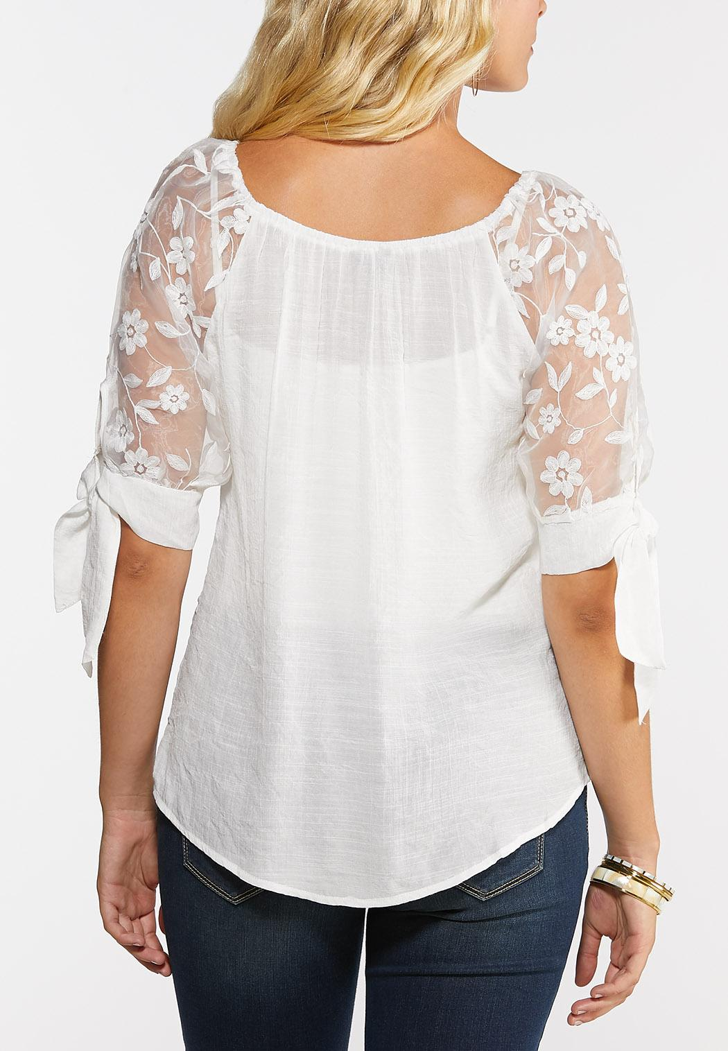 Floral Oganza Sleeve Top (Item #44314999)