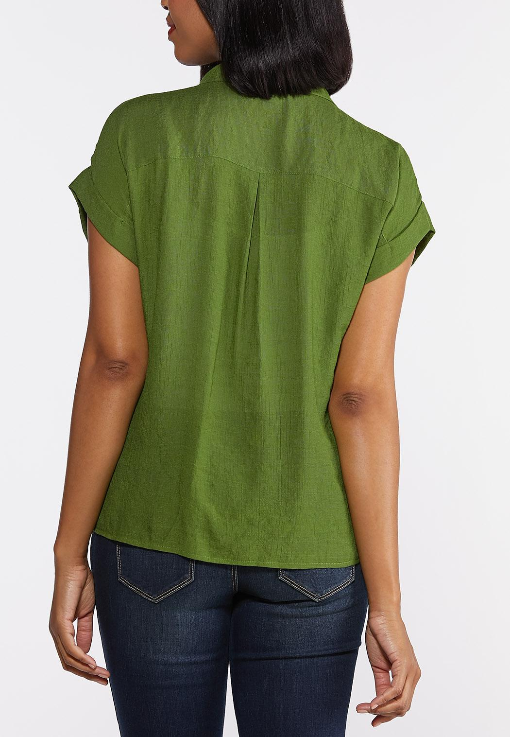 Collared Linen Top (Item #44315040)