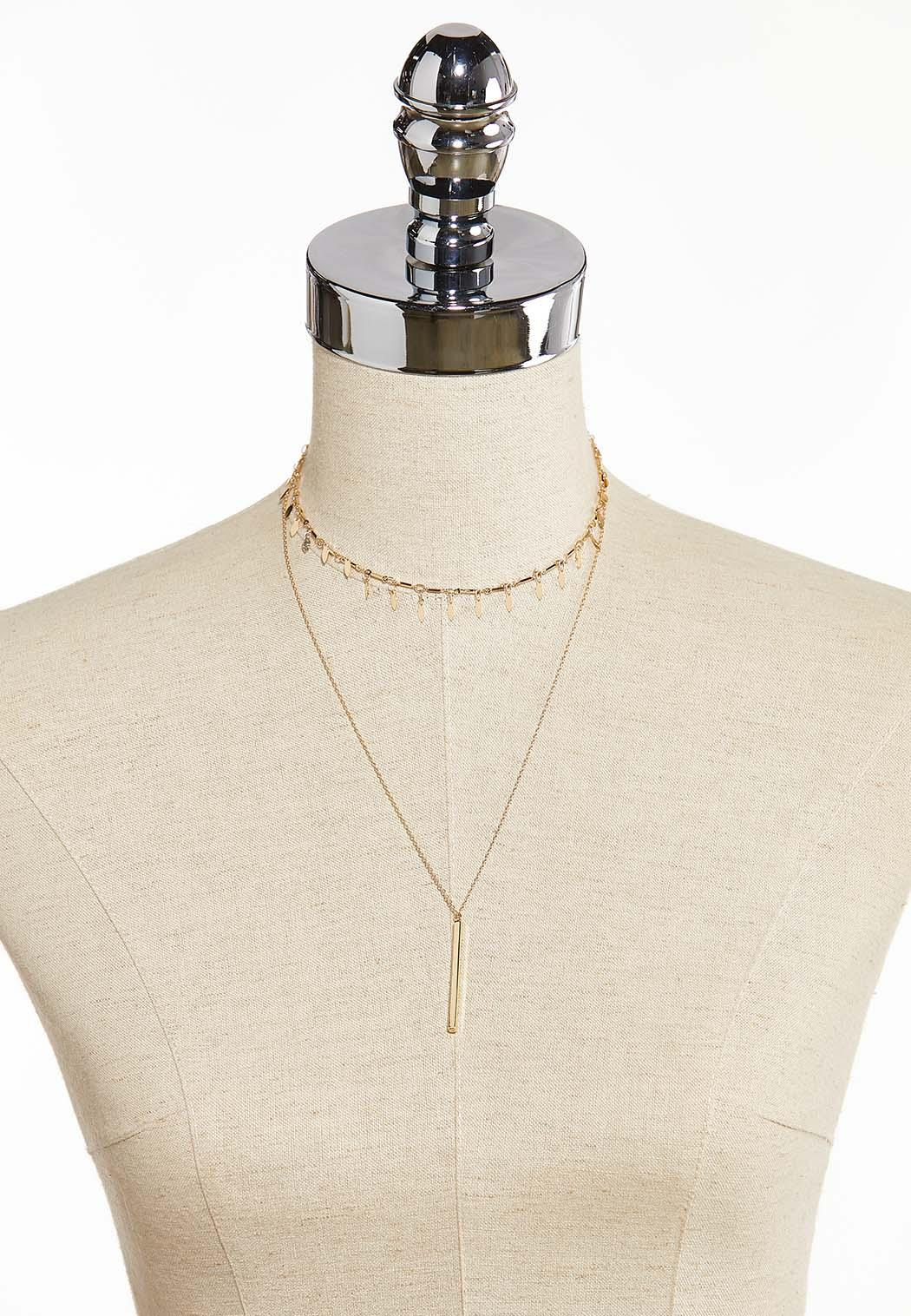 Delicate Layered Bar Necklace (Item #44315260)