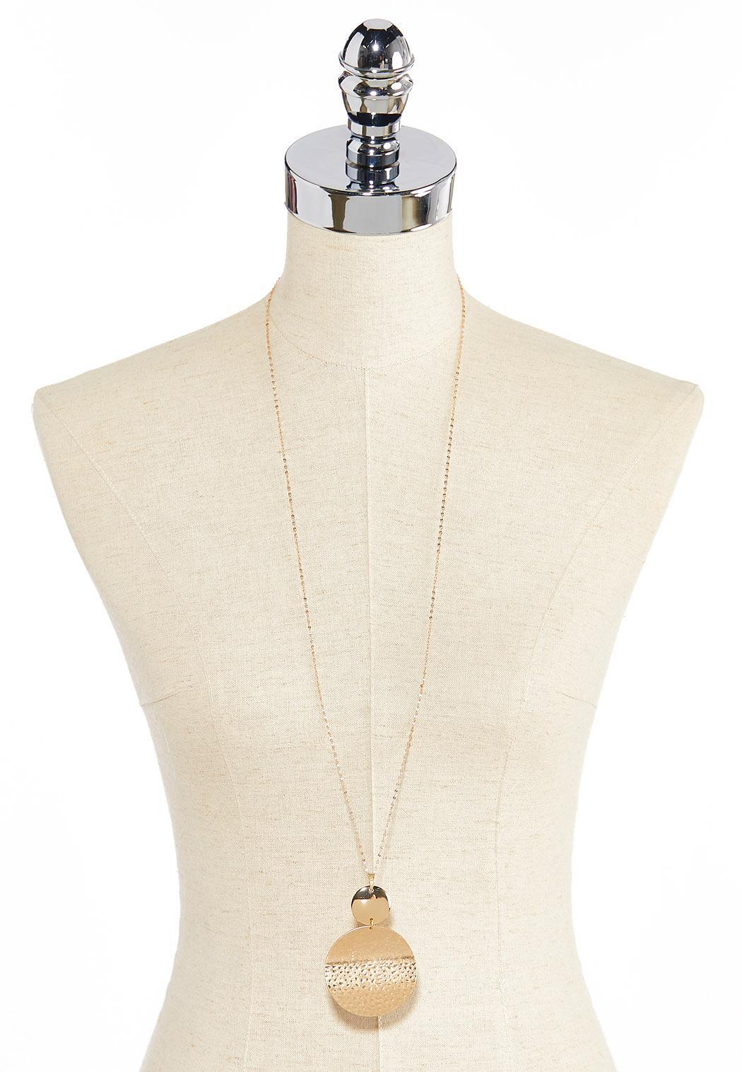 Hammered Disc Pendant Necklace (Item #44315262)