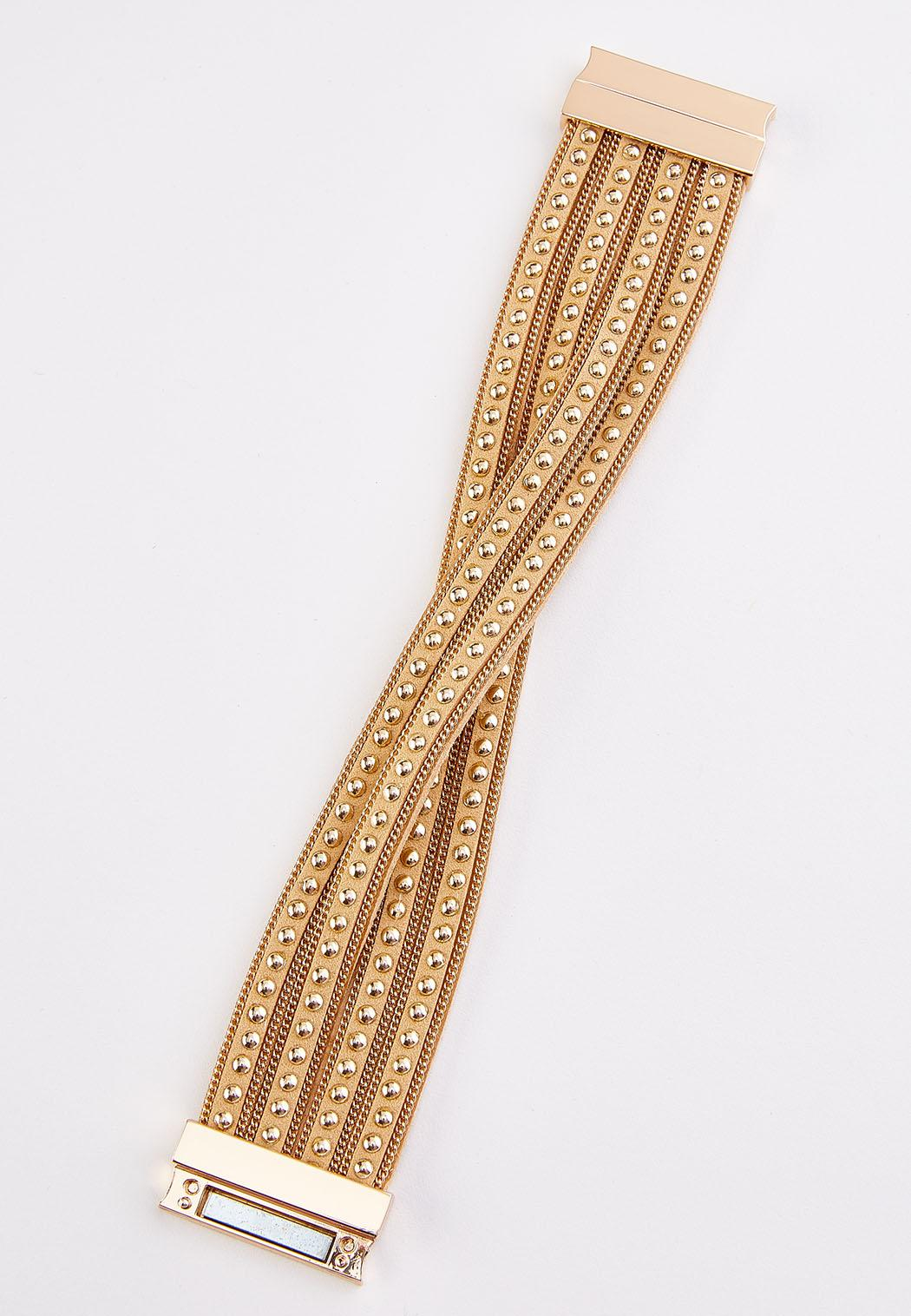 Studded Criss Cross Bracelet (Item #44315728)