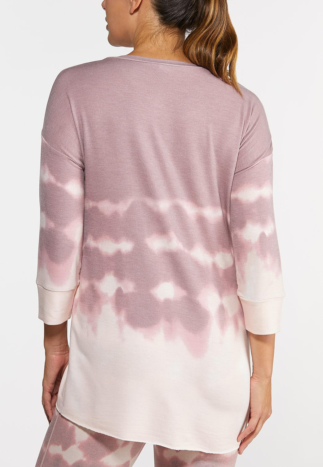 Plus Size Tie Dye Athleisure Tunic (Item #44317068)