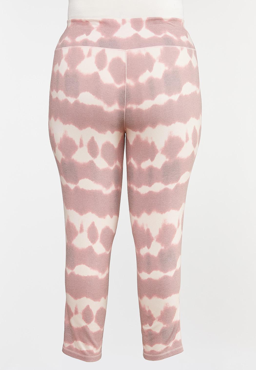 Plus Size Tie Dye Athleisure Leggings (Item #44317178)