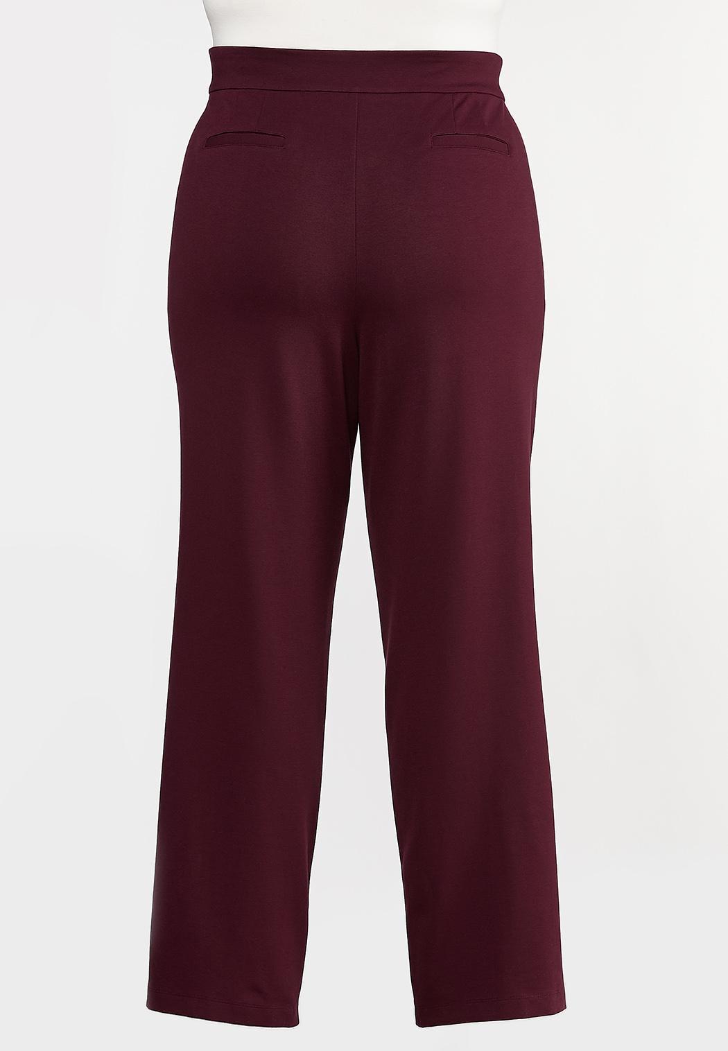 Plus Petite Straight Leg Ponte Pants (Item #44317463)