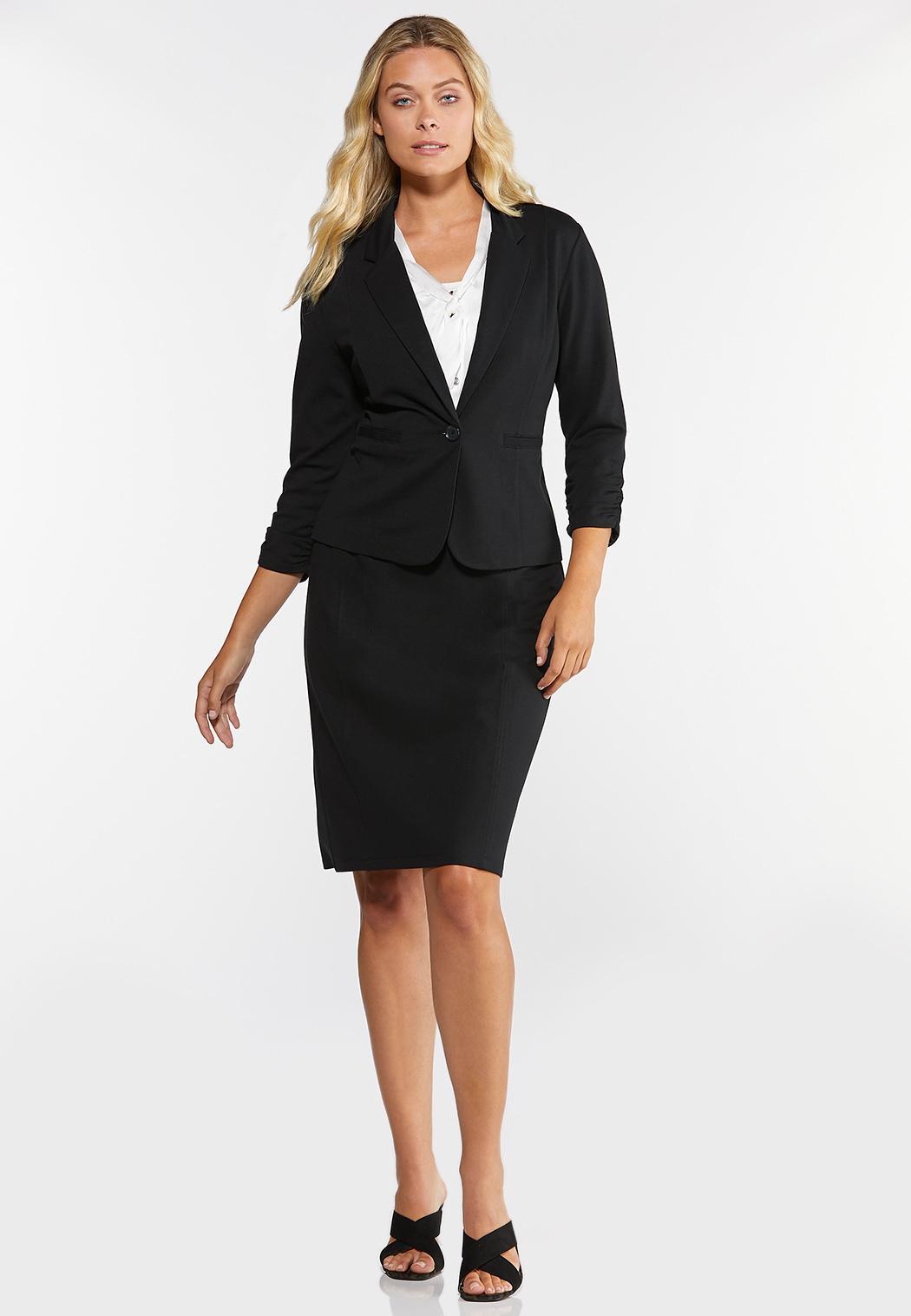 Ponte Pull-On Pencil Skirt (Item #44317869)