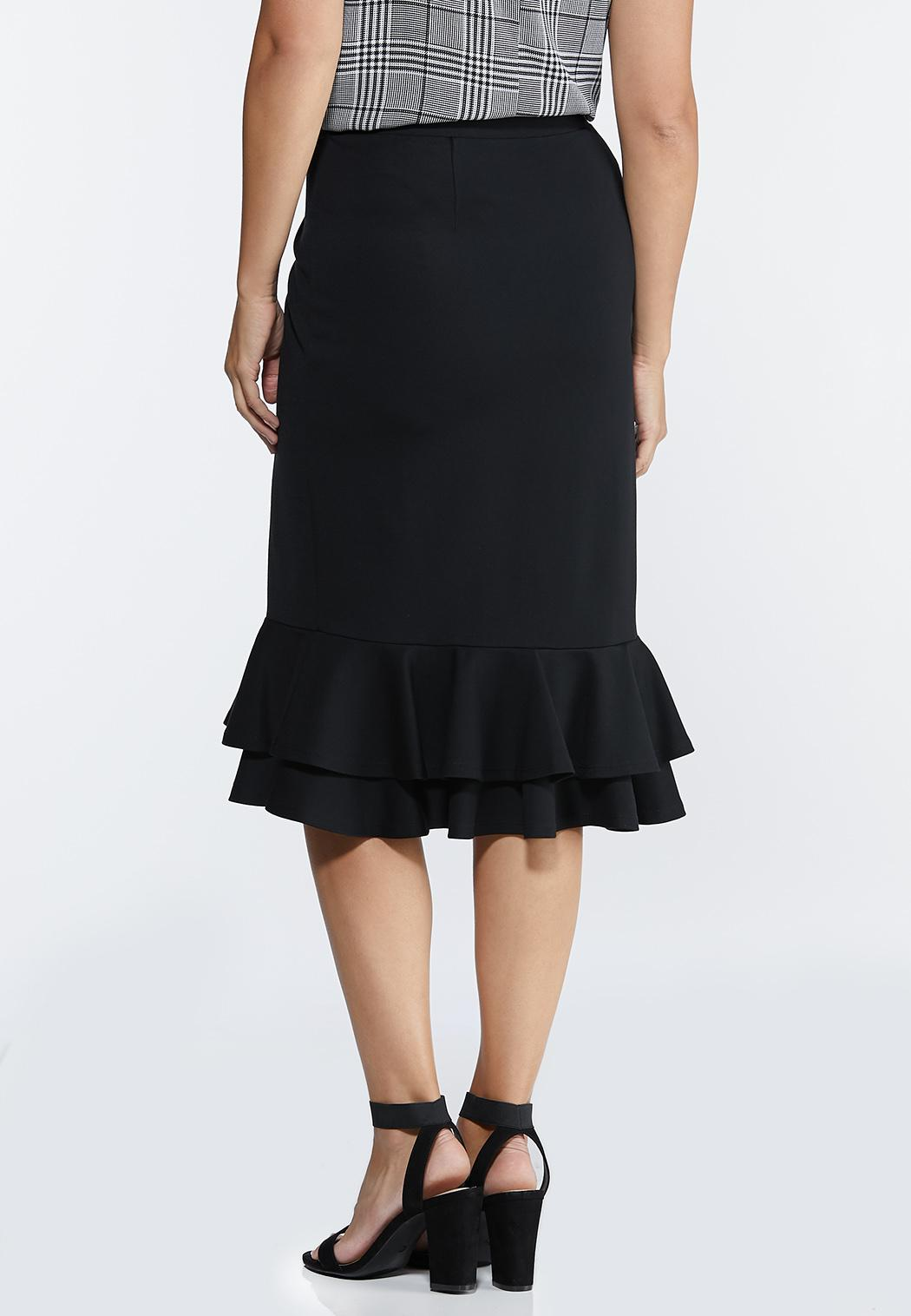 Double Ruffle Ponte Skirt (Item #44318549)