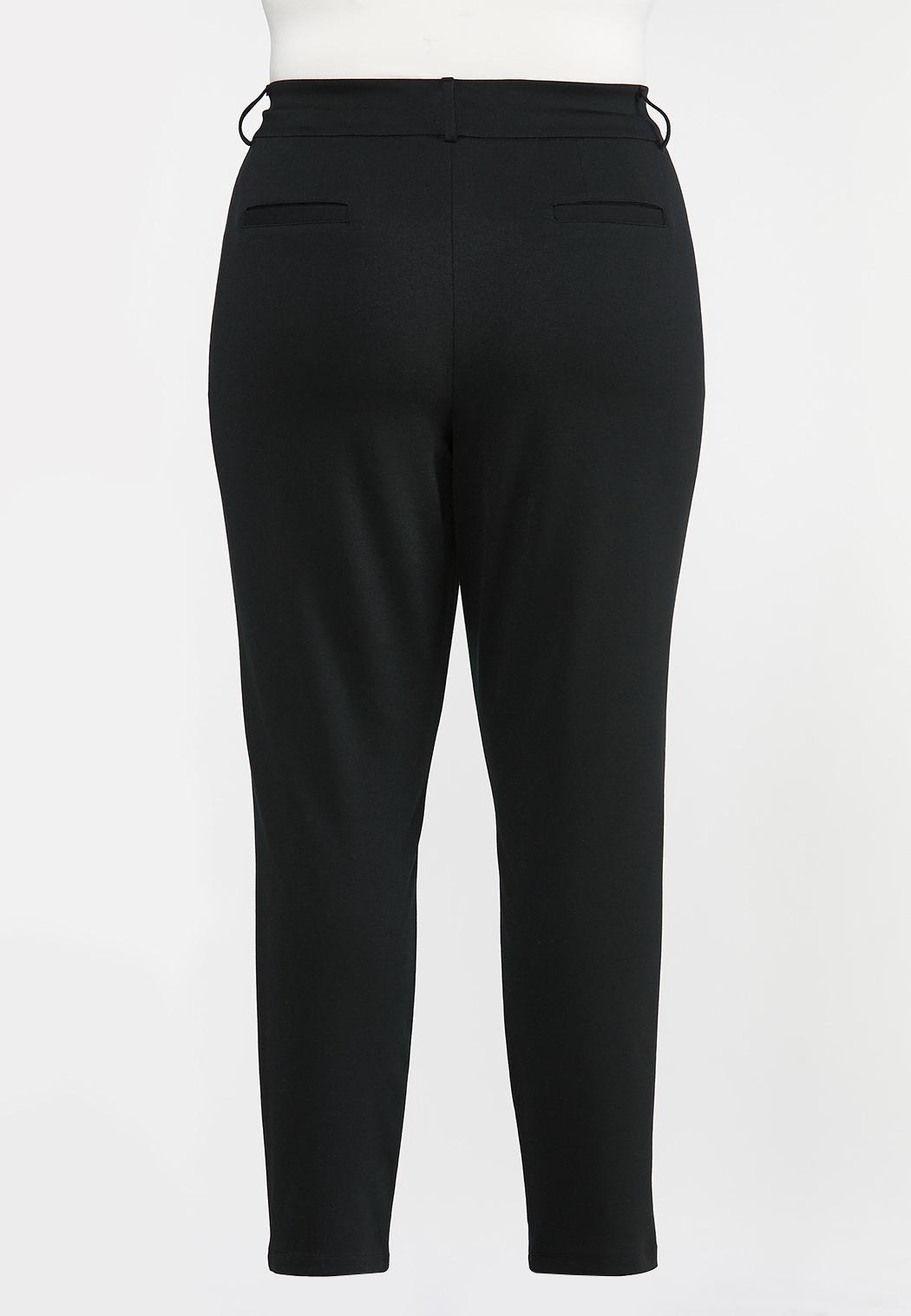 Plus Size Slim Ponte Pants (Item #44318888)