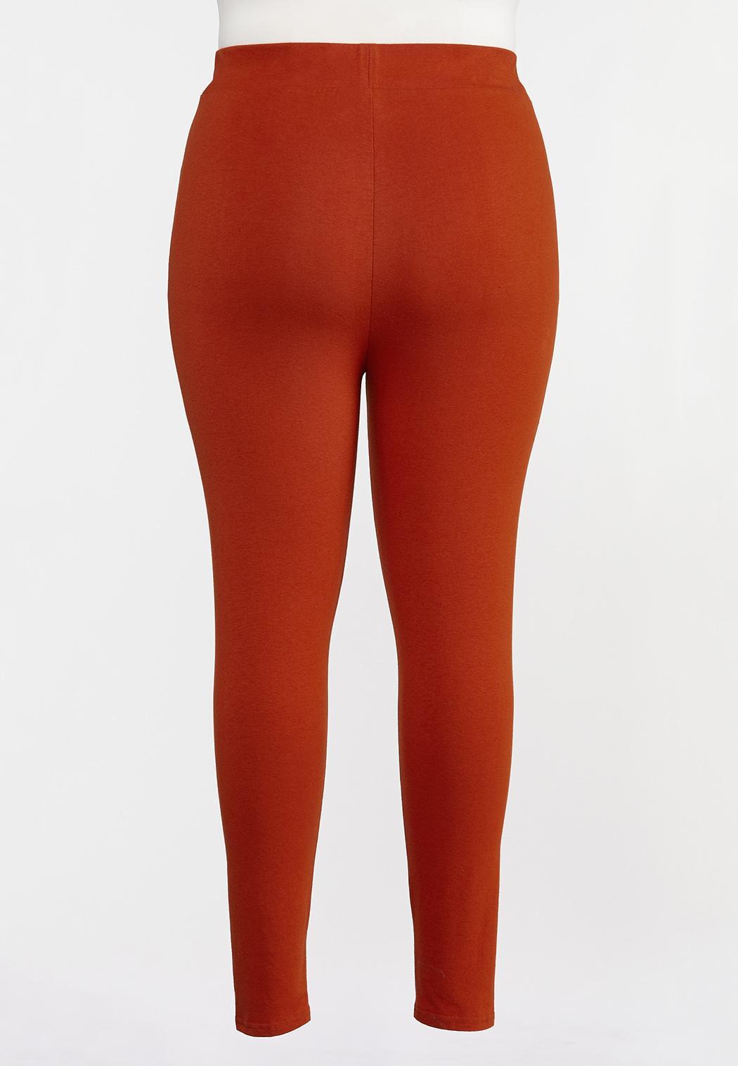 Plus Size Casual Knit Leggings (Item #44319448)