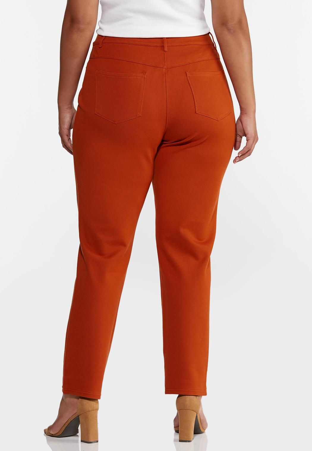 Plus Size Skinny 5-Pocket Ponte Pants (Item #44320082)