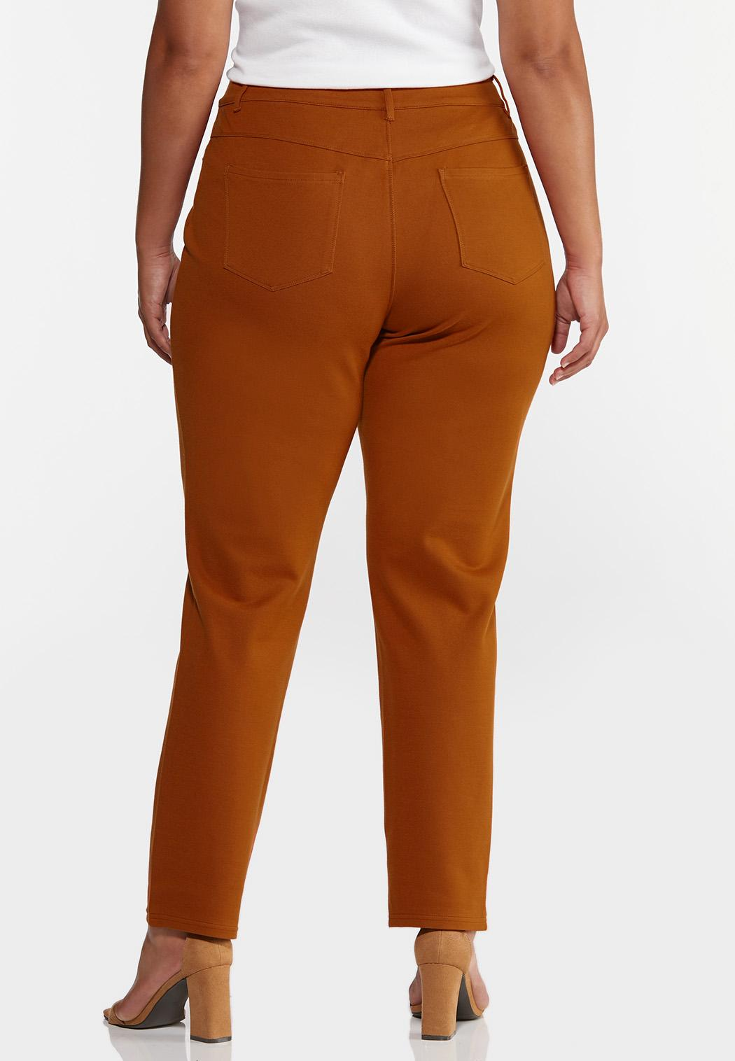 Plus Petite Skinny 5-Pocket Ponte Pants (Item #44320125)
