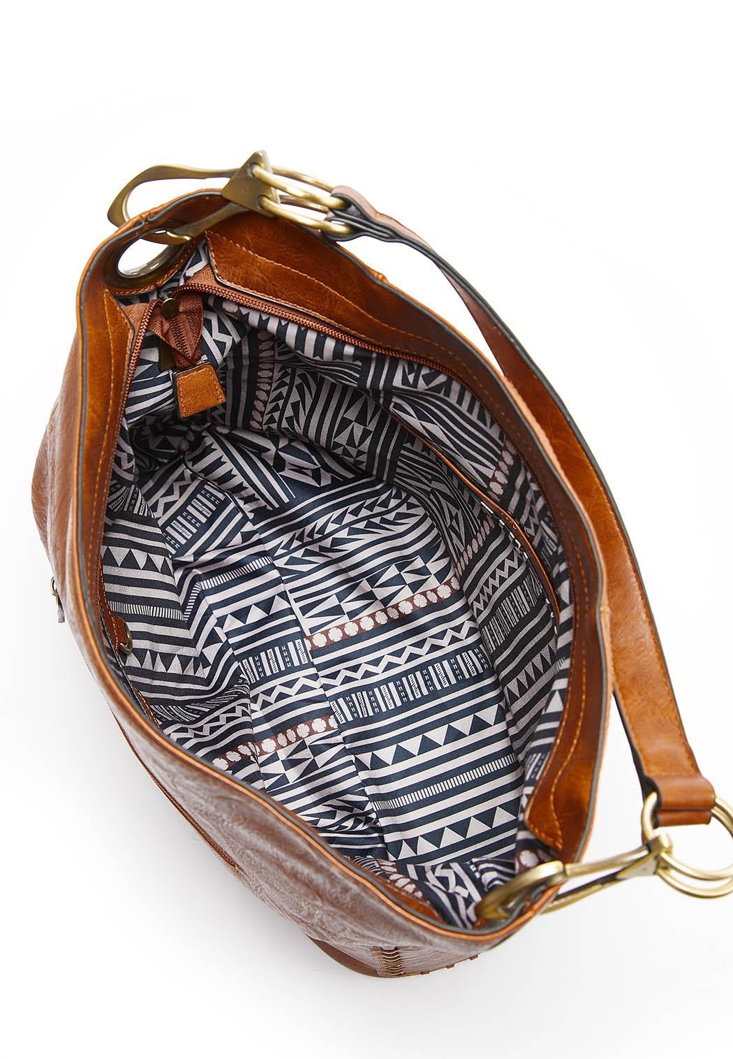 Whipstitch Pocket Hobo Handbag (Item #44324631)