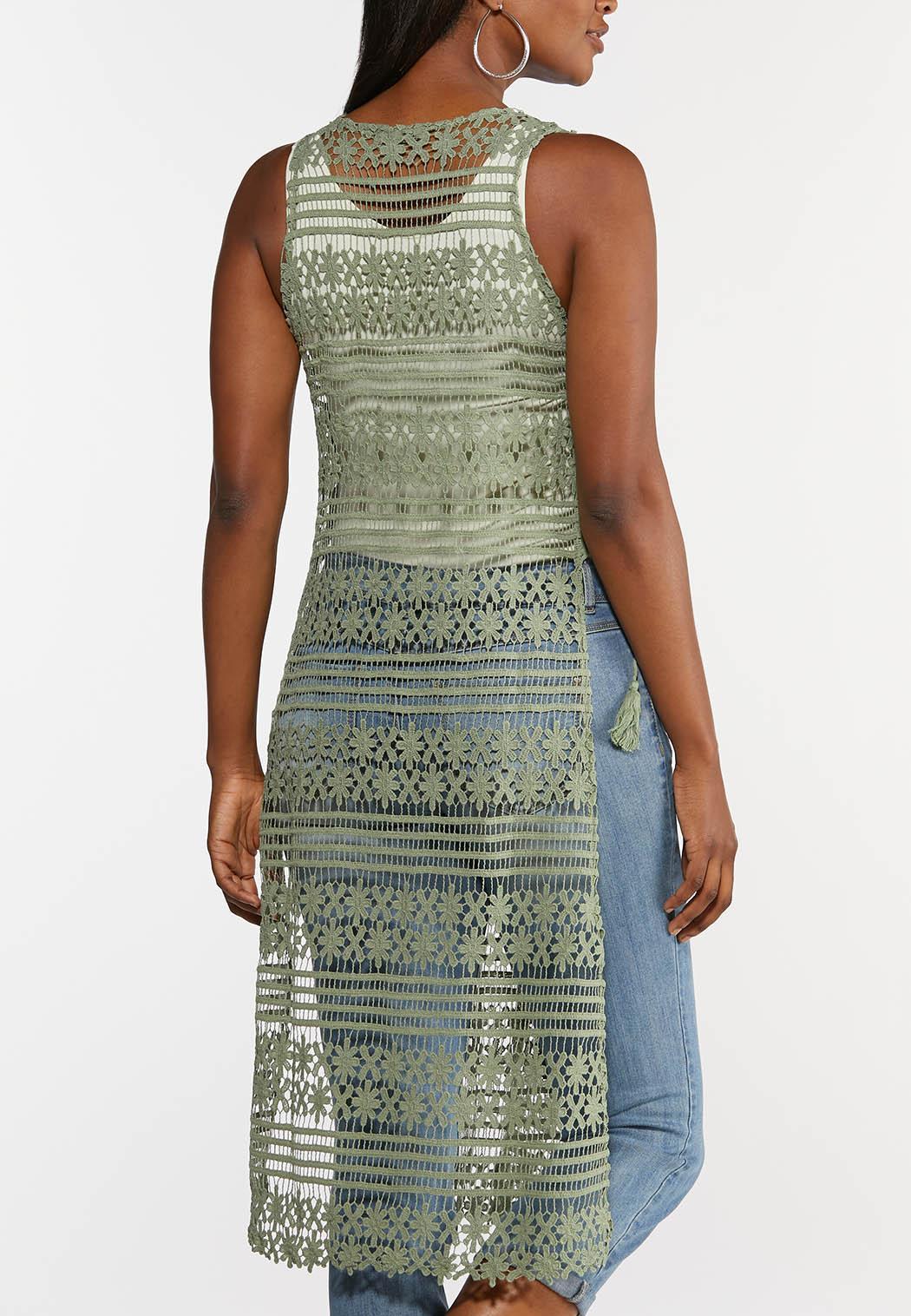 Long Crochet Vest (Item #44325054)